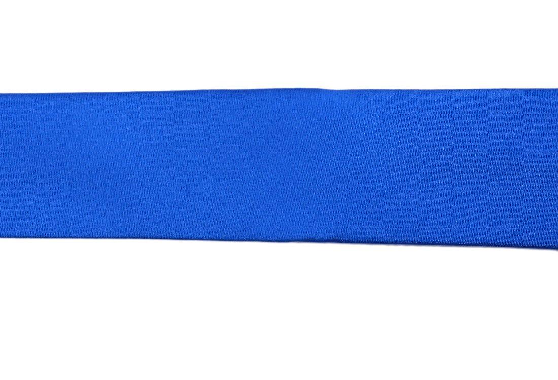 Cravata matase Slim albastru uni marca Grazie Filipeti