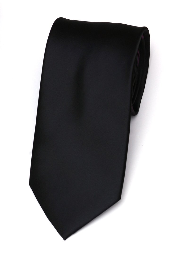 Cravata matase Slim negru uni marca Grazie Filipeti