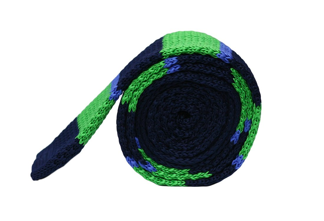 Cravata crosetata cu dungi multicolor marca Grazie Filipeti