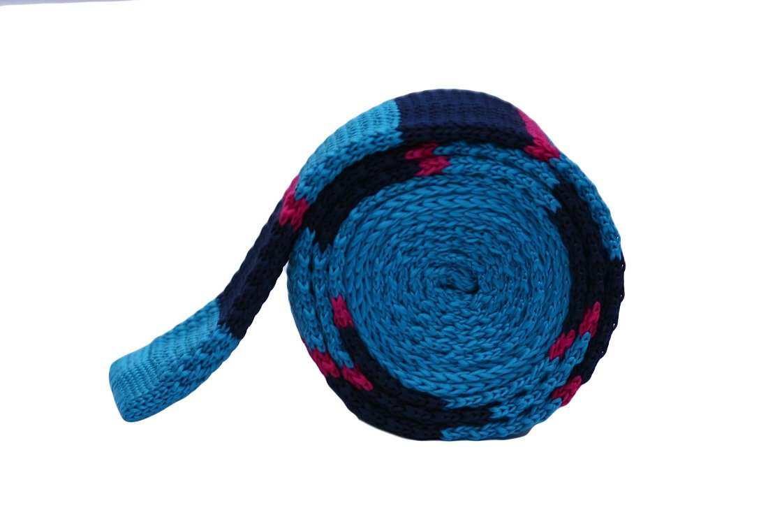 Cravata crosetata bleumarin, violet si bleu marca Grazie Filipeti