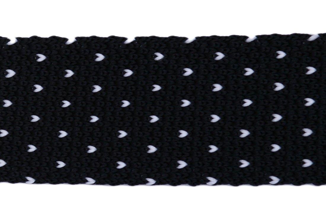 Cravata crosetata negru cu alb marca Grazie Filipeti