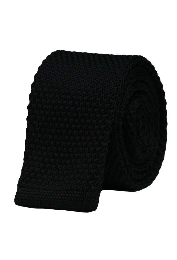 Cravata crosetata neagru uni marca Grazie Filipeti