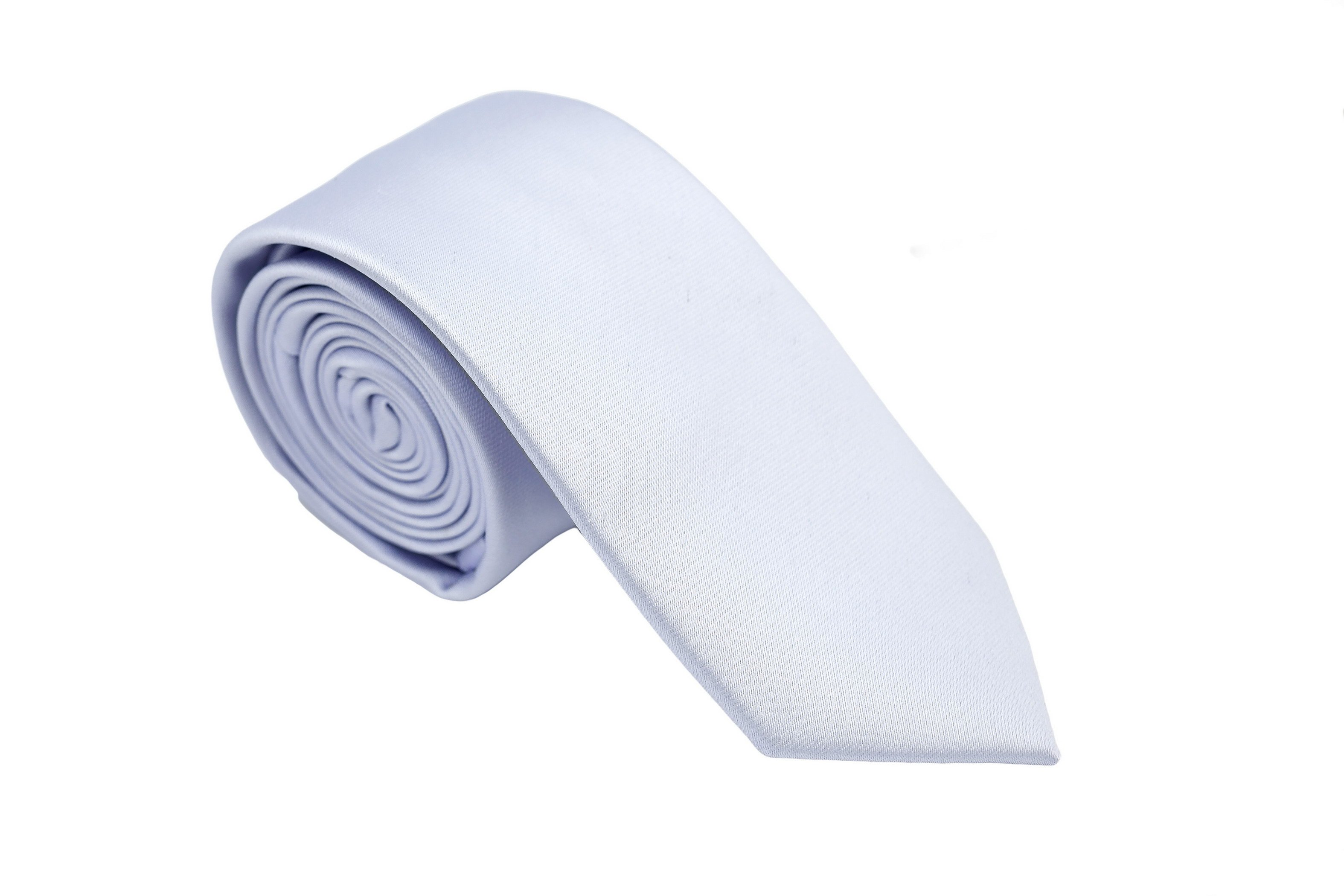 Cravata slim bleu uni Grazie Filipeti