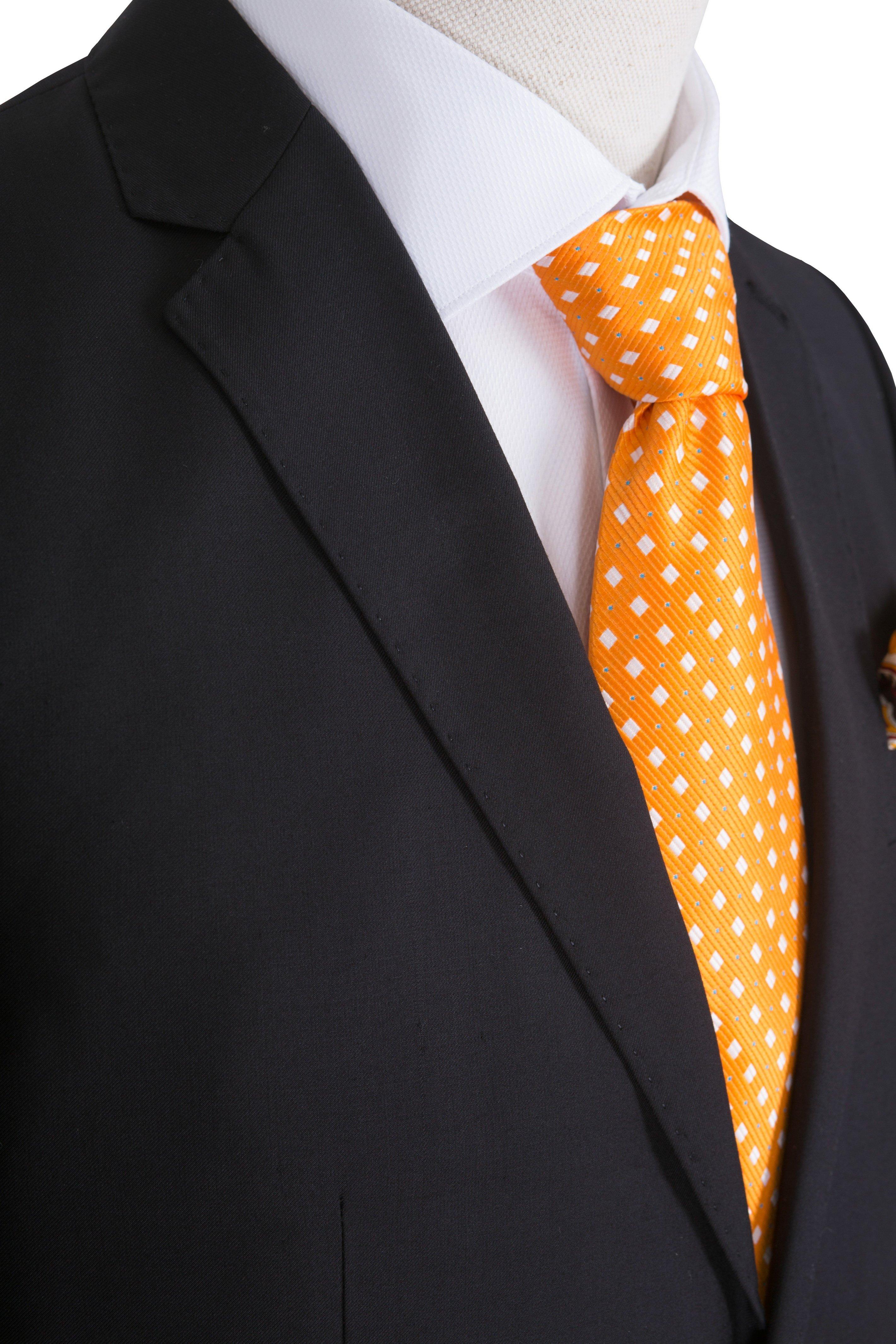 Costum barbati negru uni marca Grazie Filipeti