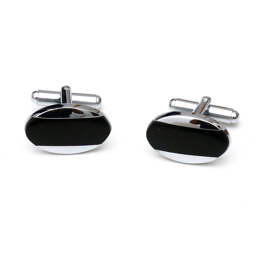 Butoni pentru camasa ovali cu sidef negru