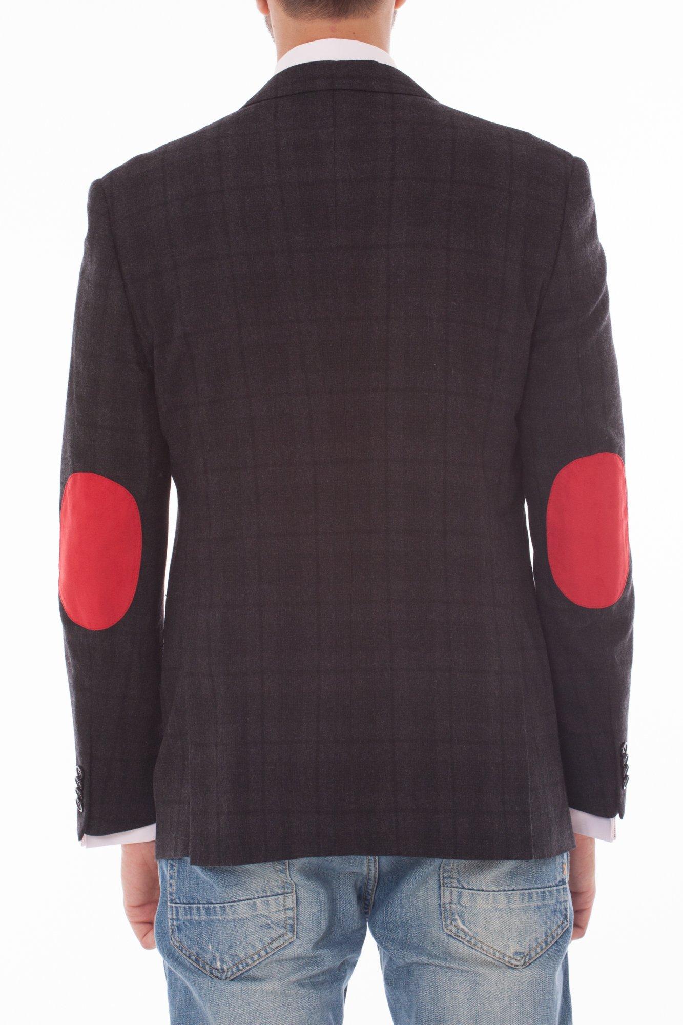 Sacou barbati gri inchis cu carouri negre marca Grazie Filipeti