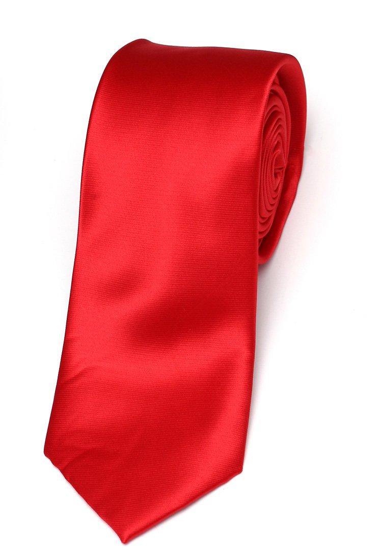 Cravata matase Slim rosu uni Grazie Filipeti