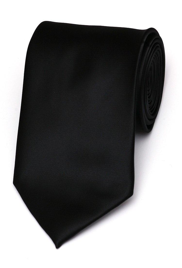 Cravata matase clasica negru uni Grazie Filipeti