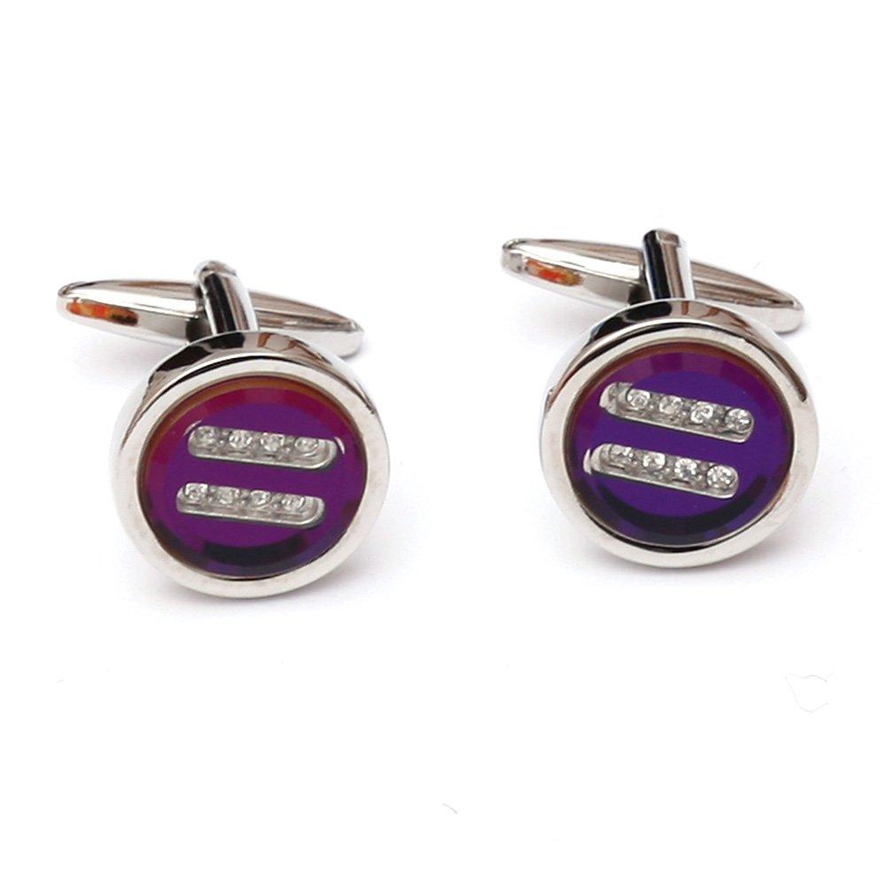 Butoni pentru camasa rotunzi - Round Purple