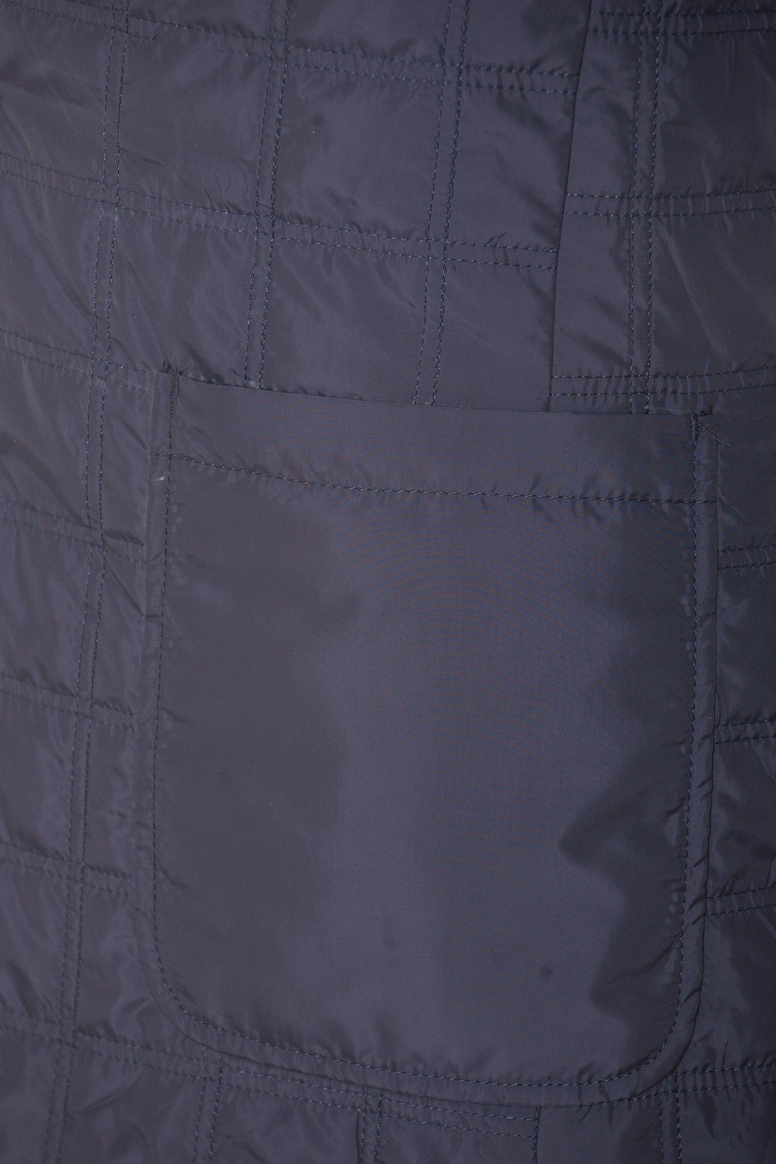 Geaca matlasata tip sacou cu maneci gri in carouri din lana