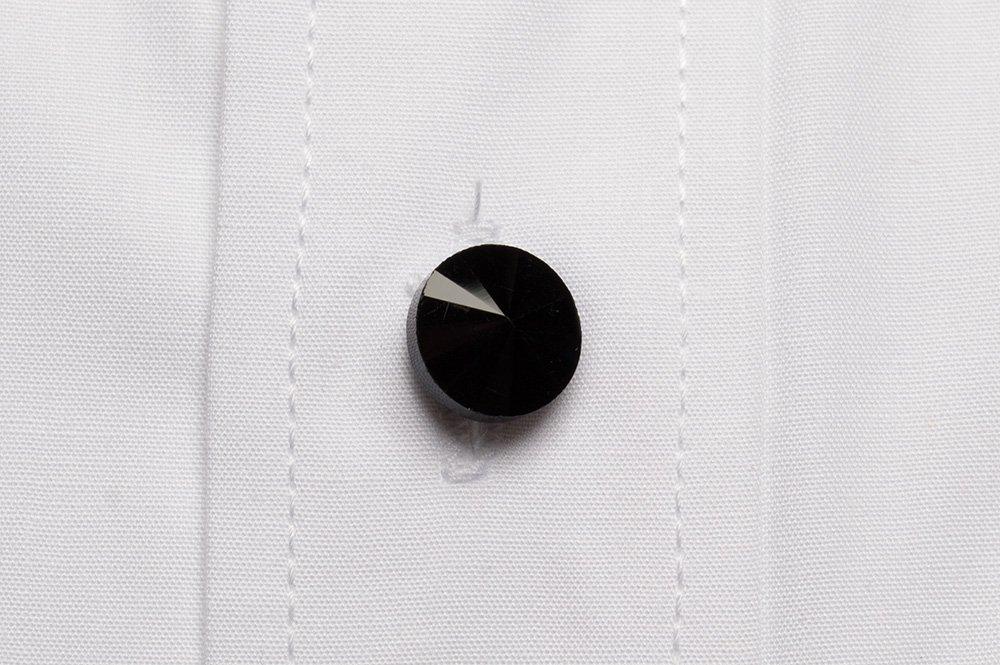 Camasa Slim Fit alba din bumbac pentru butoni - Grazie Filipeti