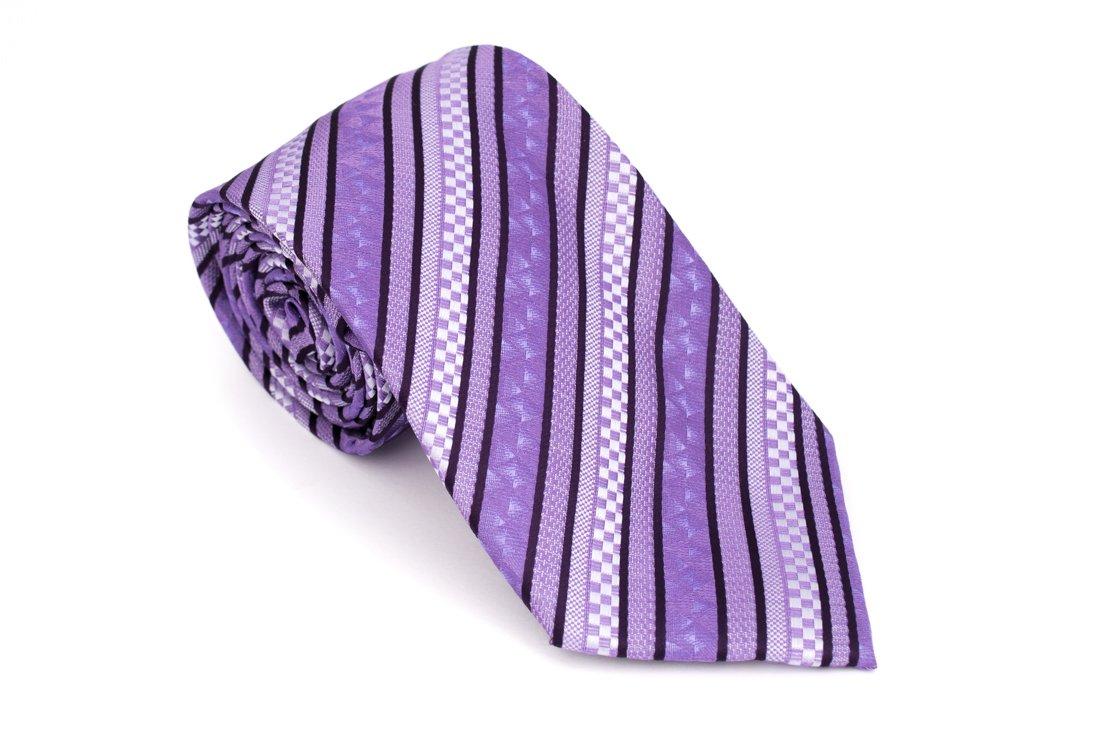 Cravata clasica lila cu dungi Grazie Filipeti