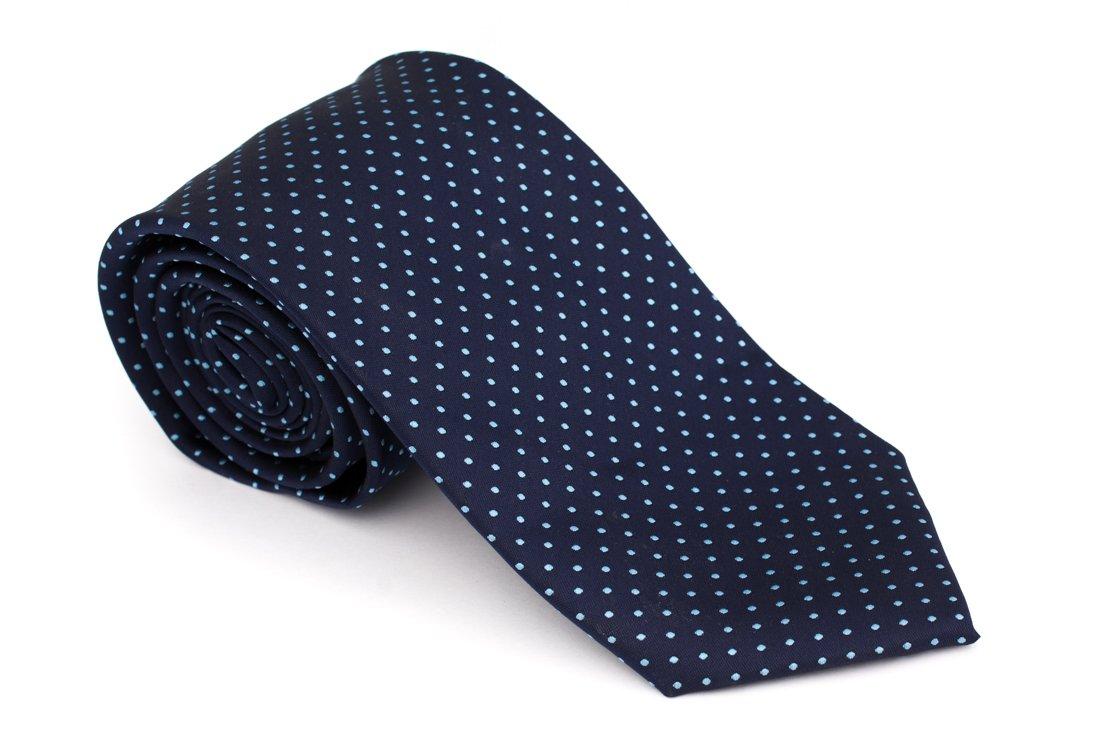 Cravata clasica bleumarin cu buline bleu - Grazie Filipeti