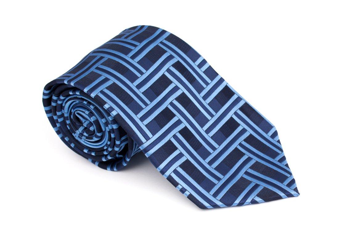 Cravata clasica albastra cu model -Grazie Filipeti