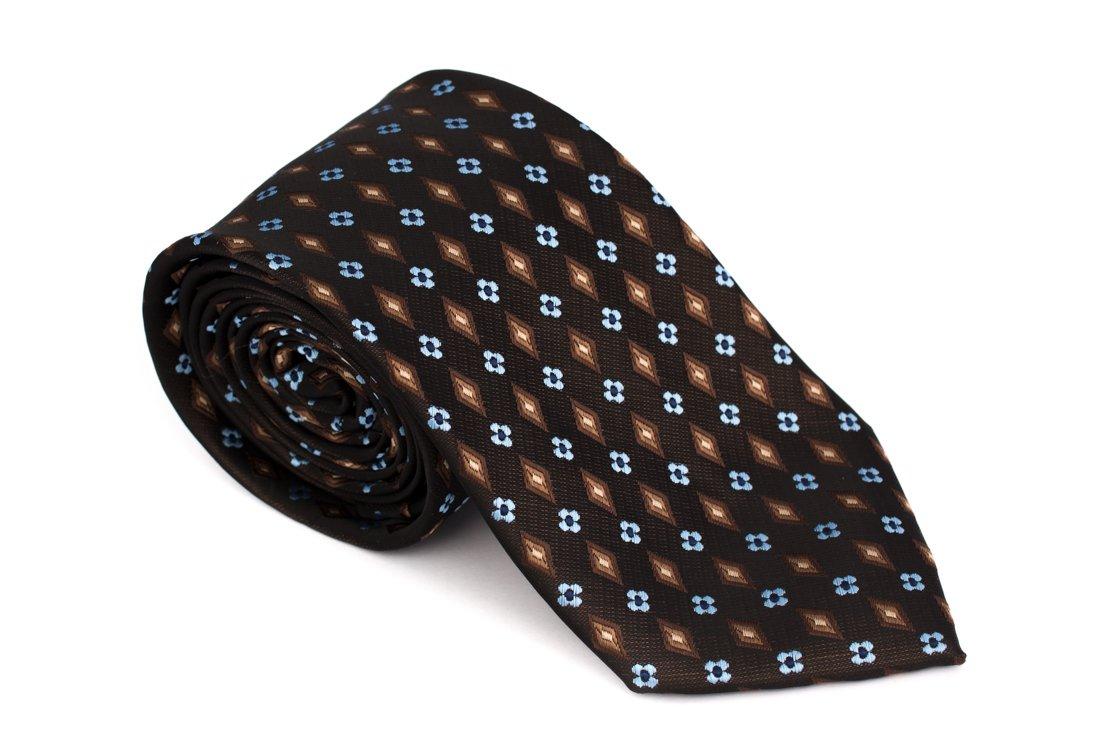 Cravata clasica maro cu model - Grazie Filipeti