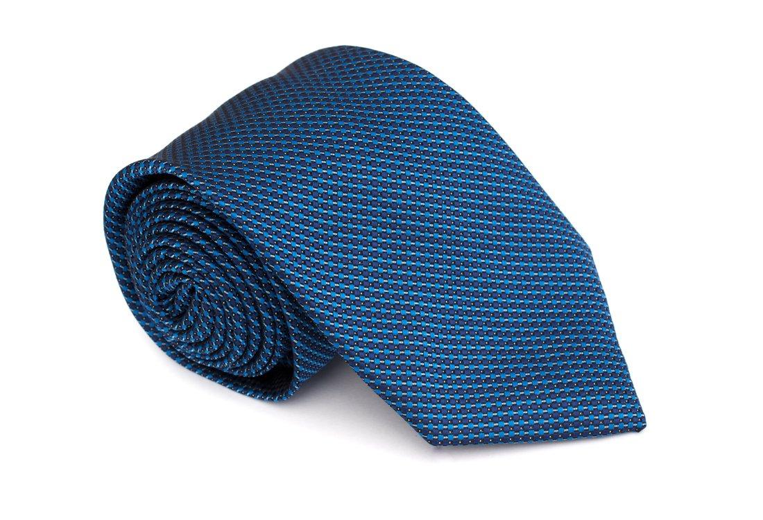 Cravata clasica albastru electric in carouri  - Grazie Filipeti
