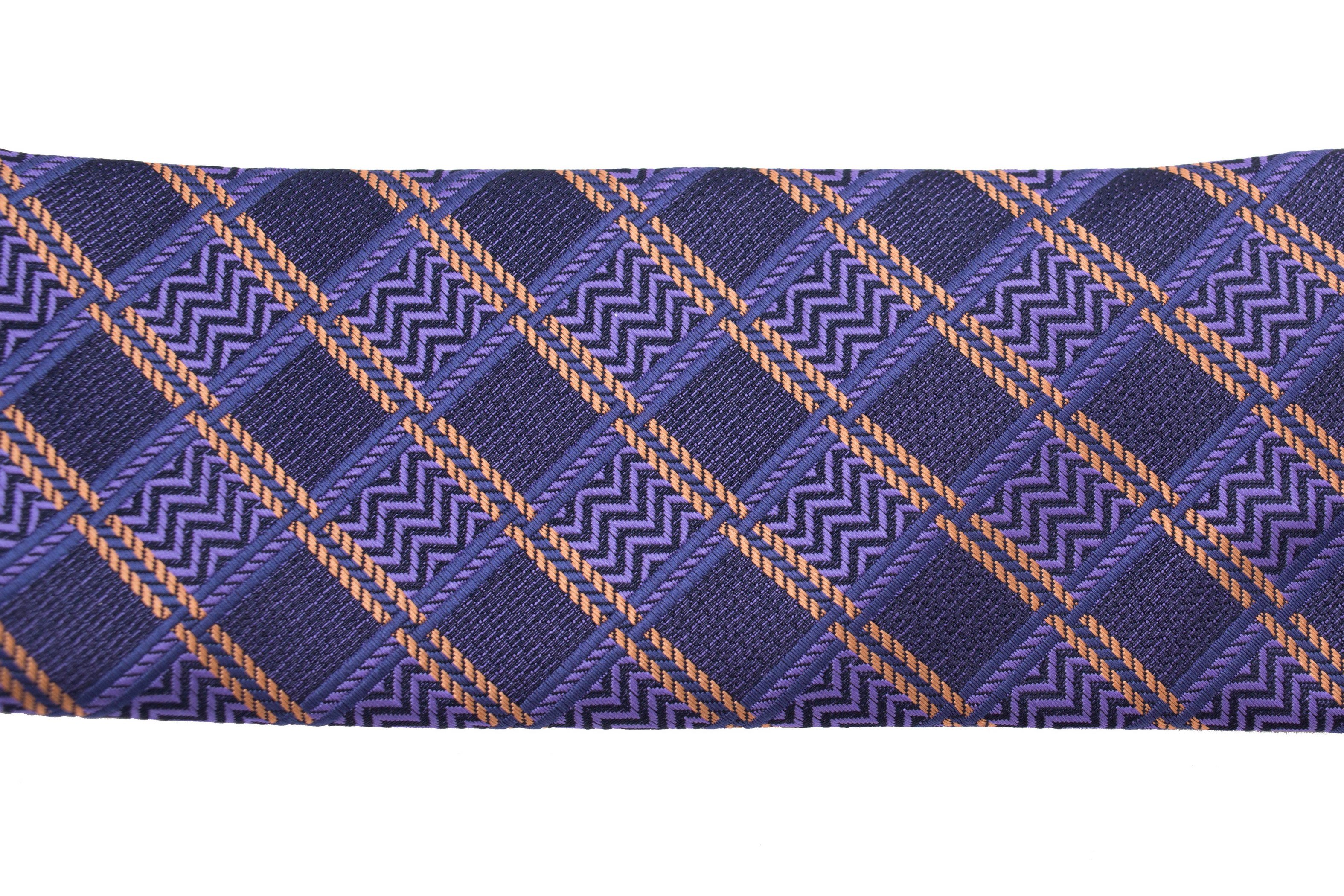 Cravata matase slim mov in carouri Grazie Filipeti