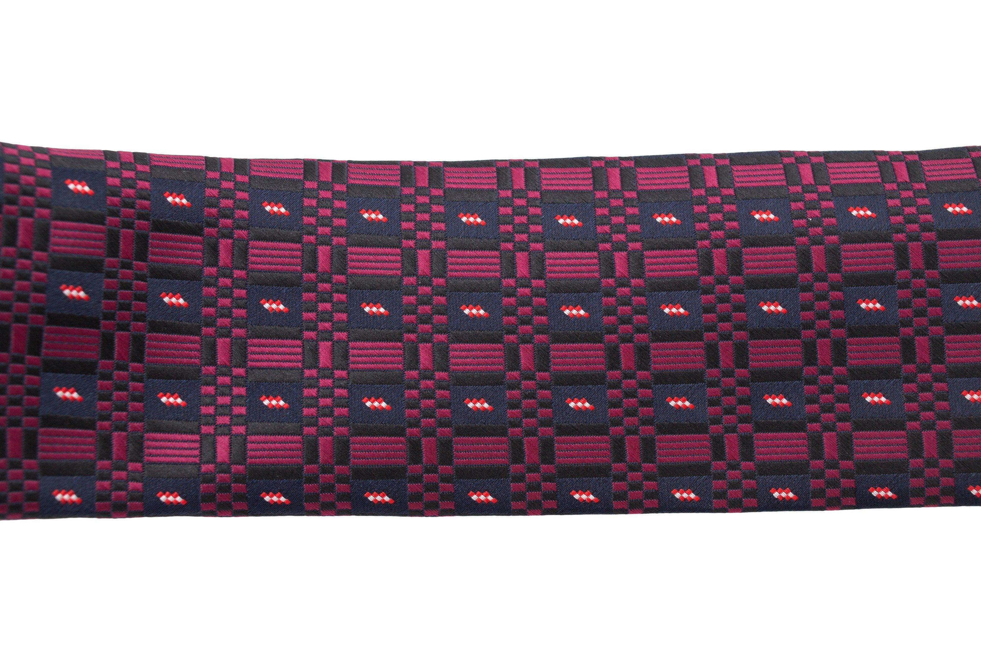 Cravata slim bleumarin cu model violet Grazie Filipeti