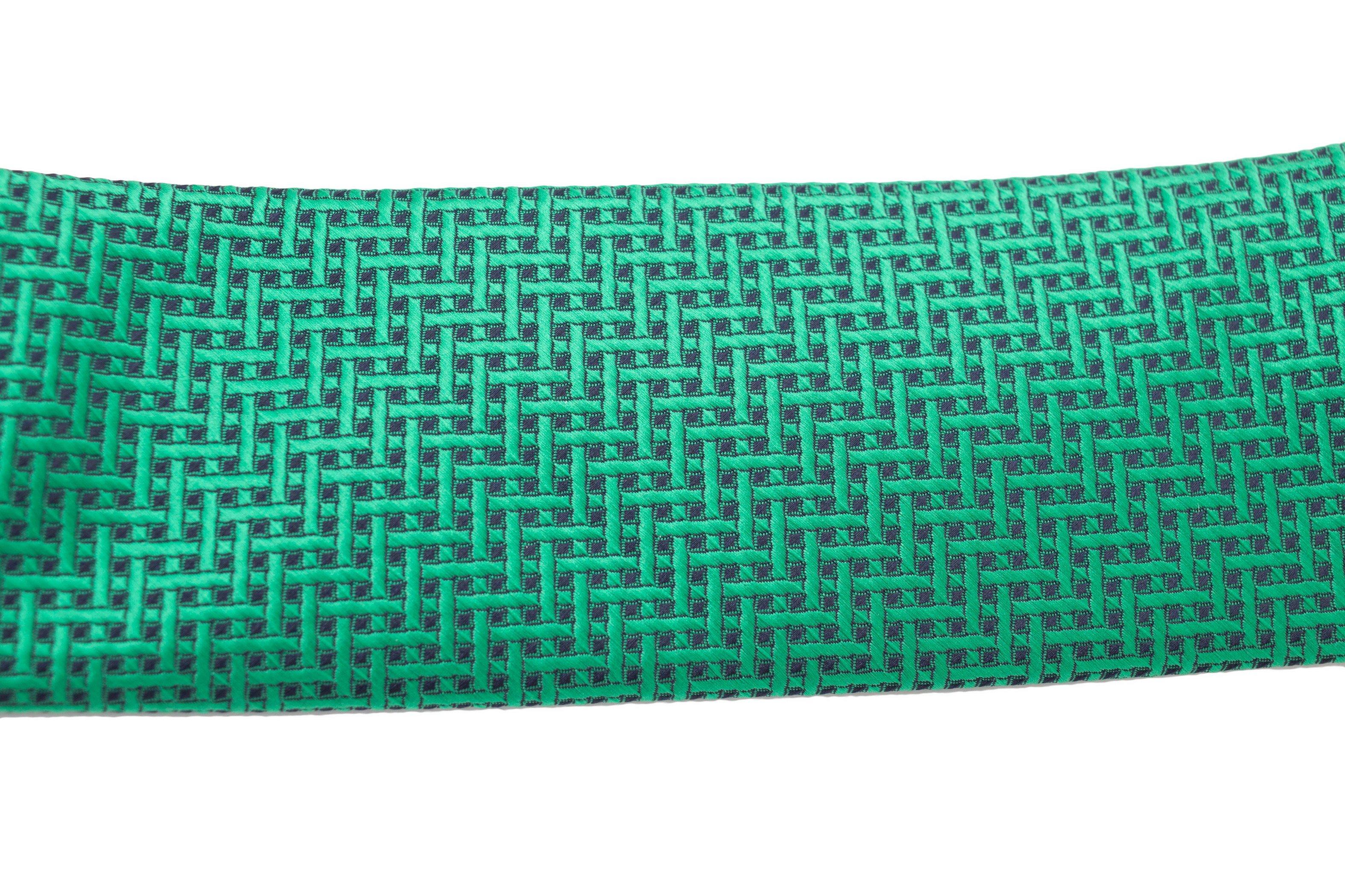 Cravata slim verde smarald cu model Grazie Filipeti