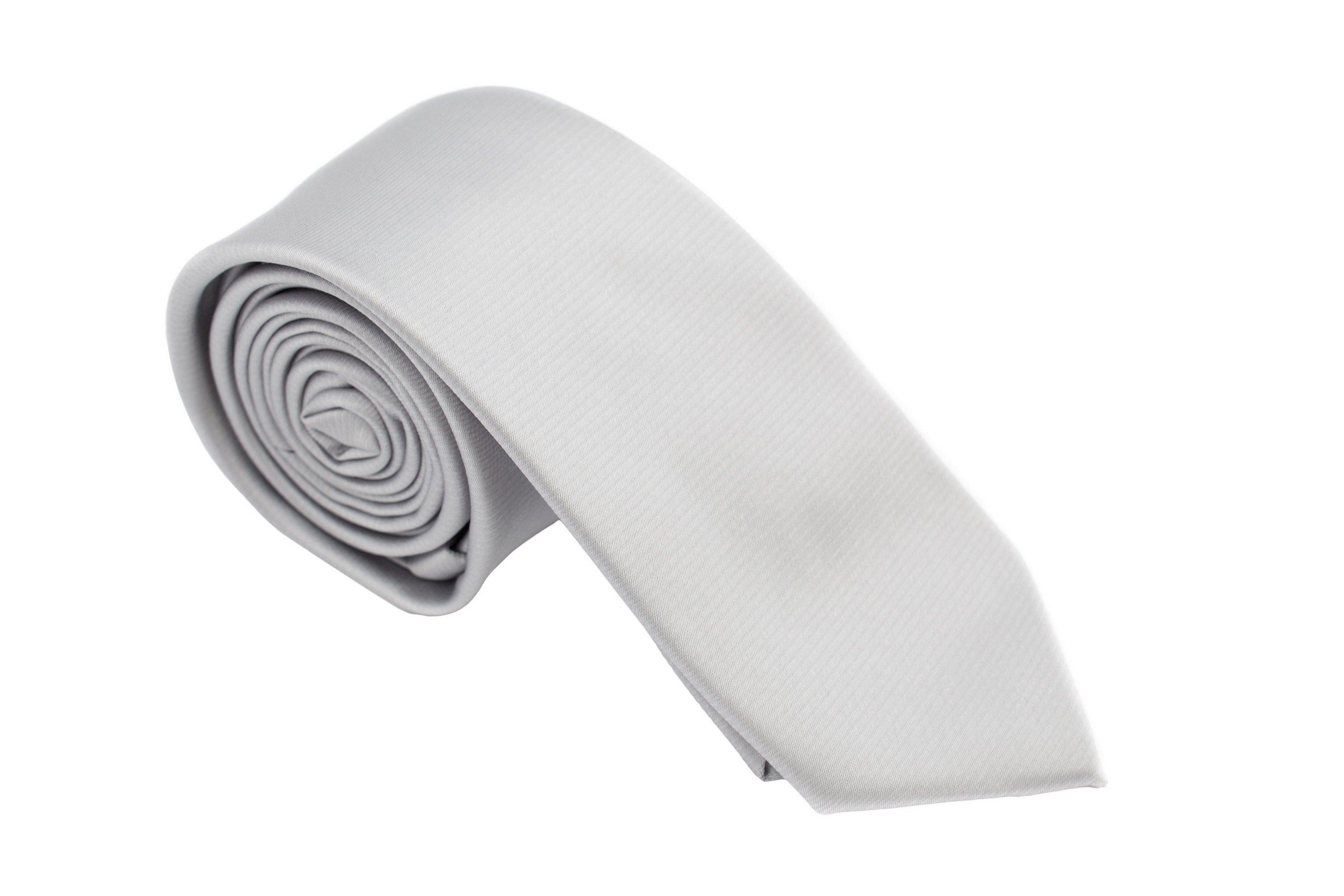 Cravata slim gri uni Grazie Filipeti
