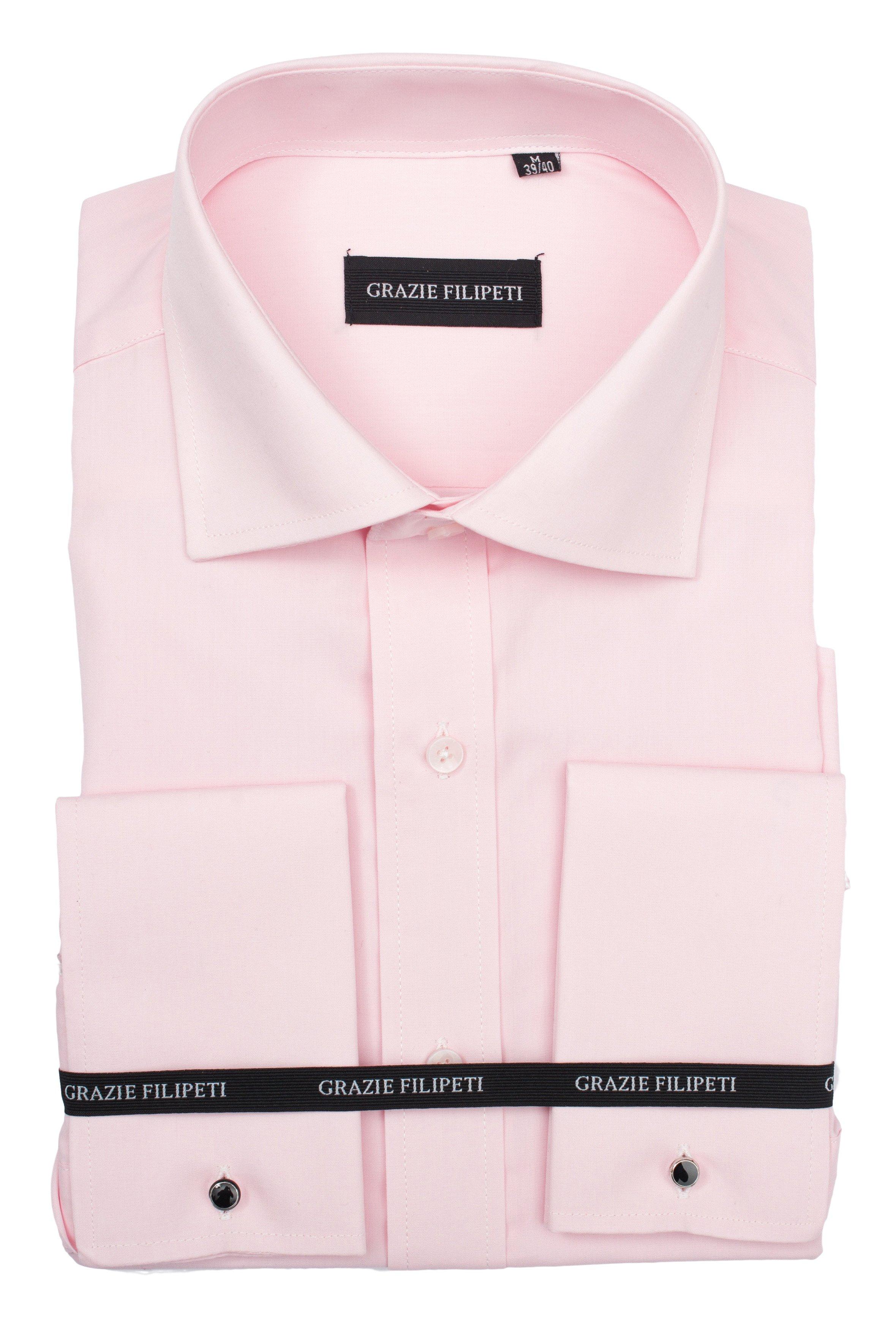 Camasa barbati Clasica roz pentru butoni Grazie Filipeti