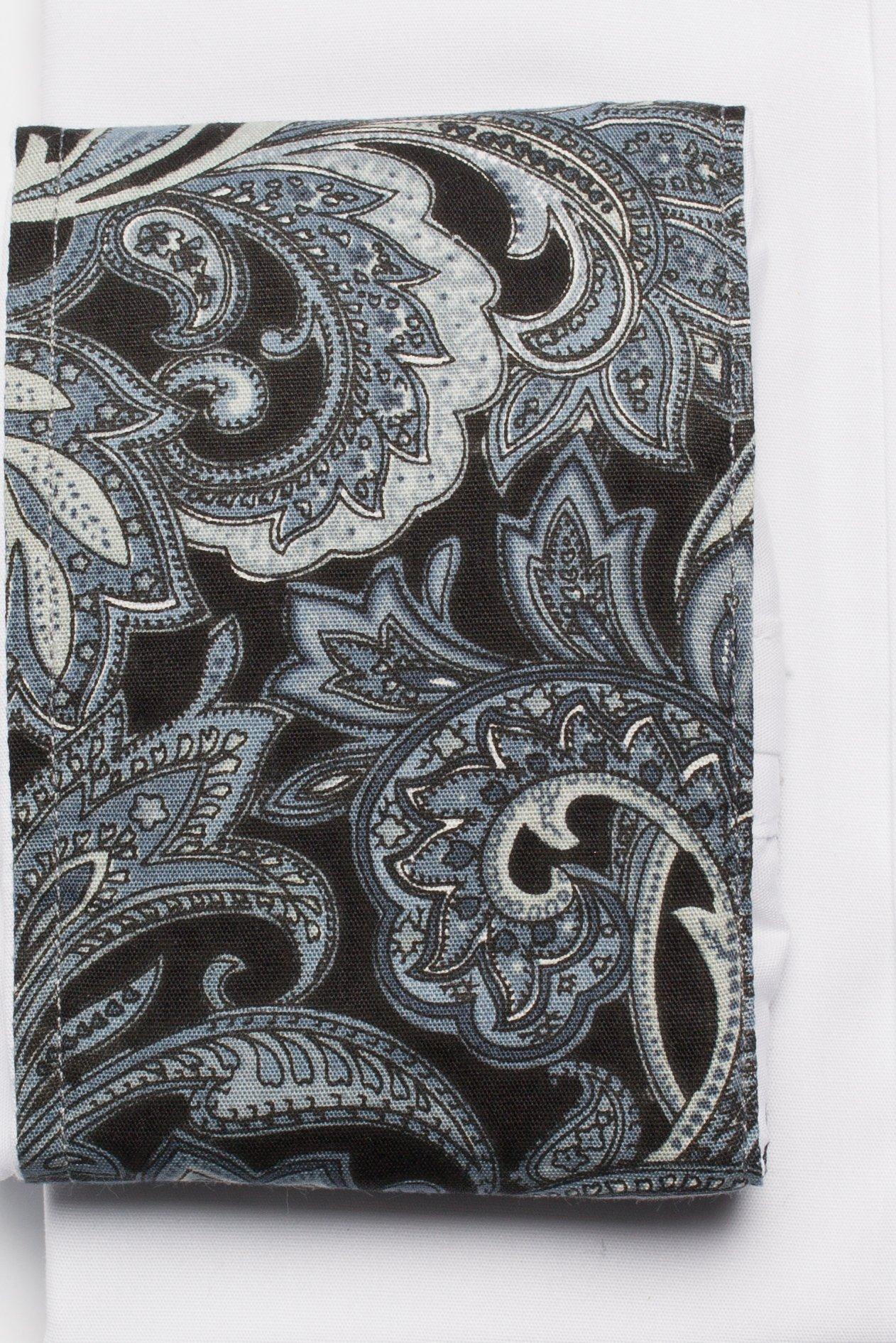 Camasa barbati alba slim fit cu motiv floral Grazie Filipeti