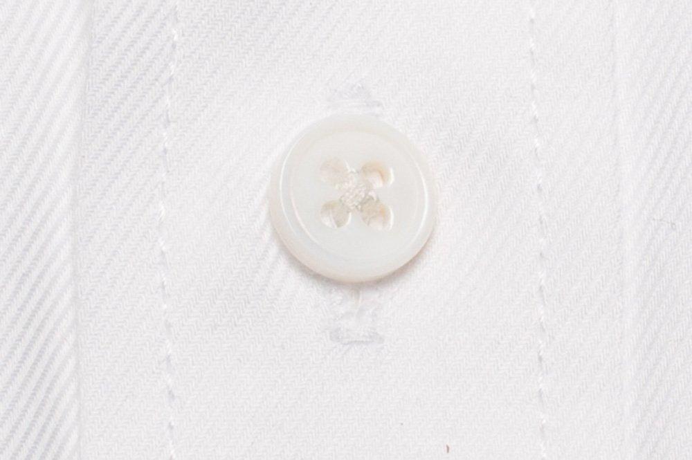 Camasa alba Slim Fit pentru butoni mother of pearl cu model in dungi Grazie Filipeti