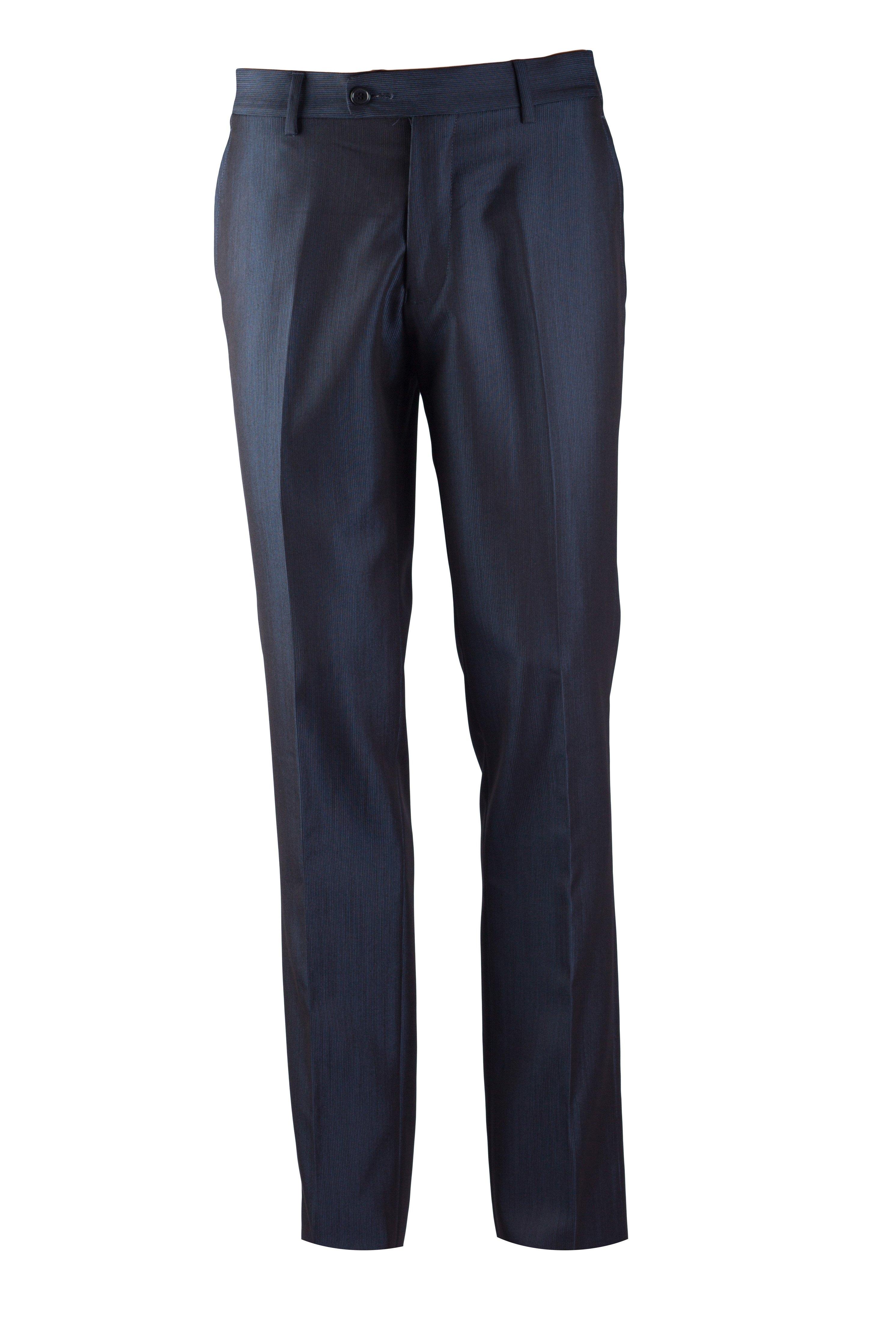 Pantaloni albastri cu dungi fine Grazie Filipeti