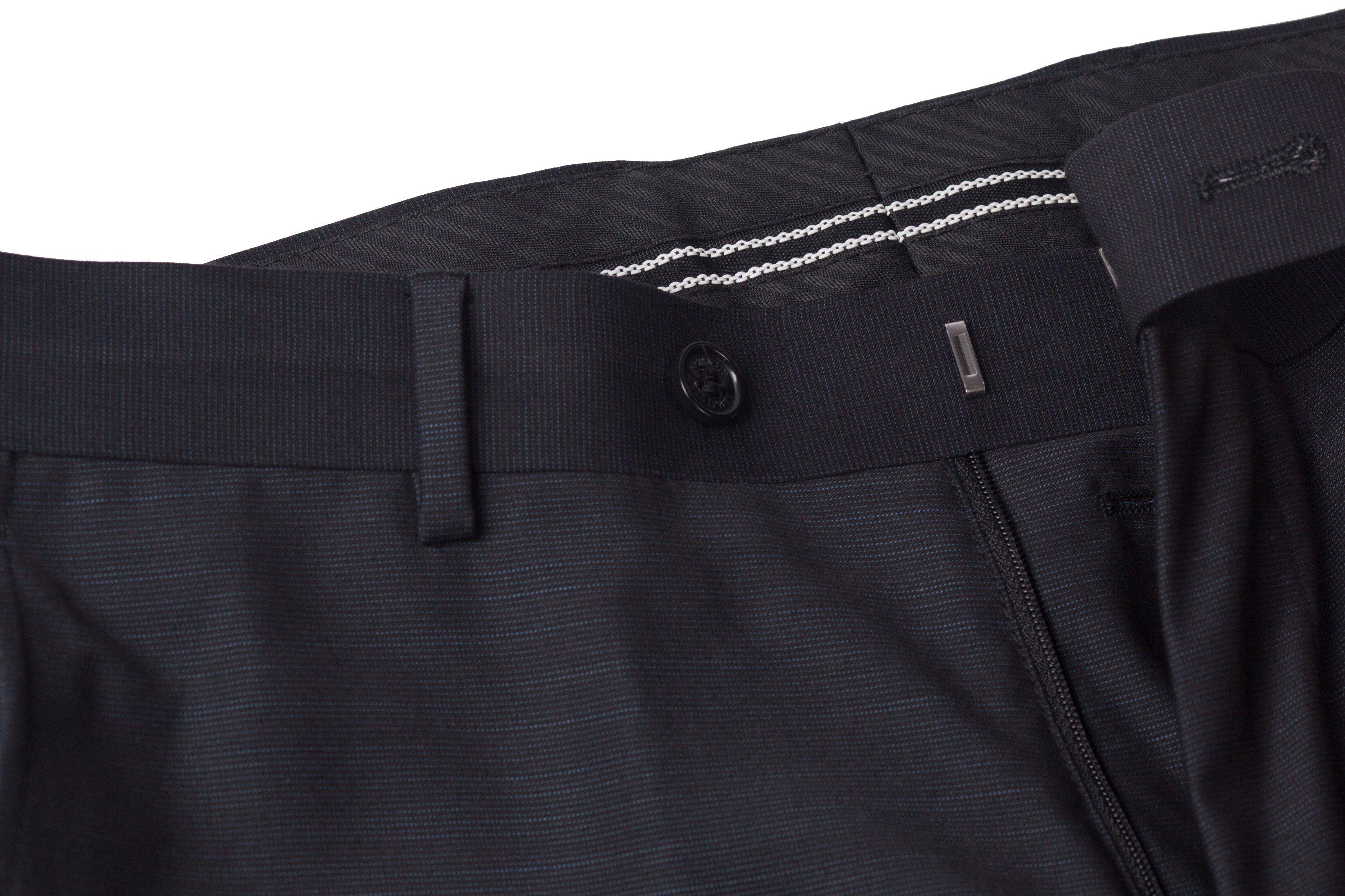 Pantaloni gri cu dungi fine Grazie Filipeti