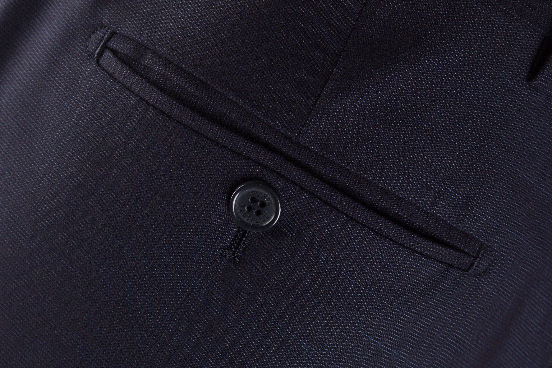 Pantaloni bleumarin cu dungi fine Grazie Filipeti