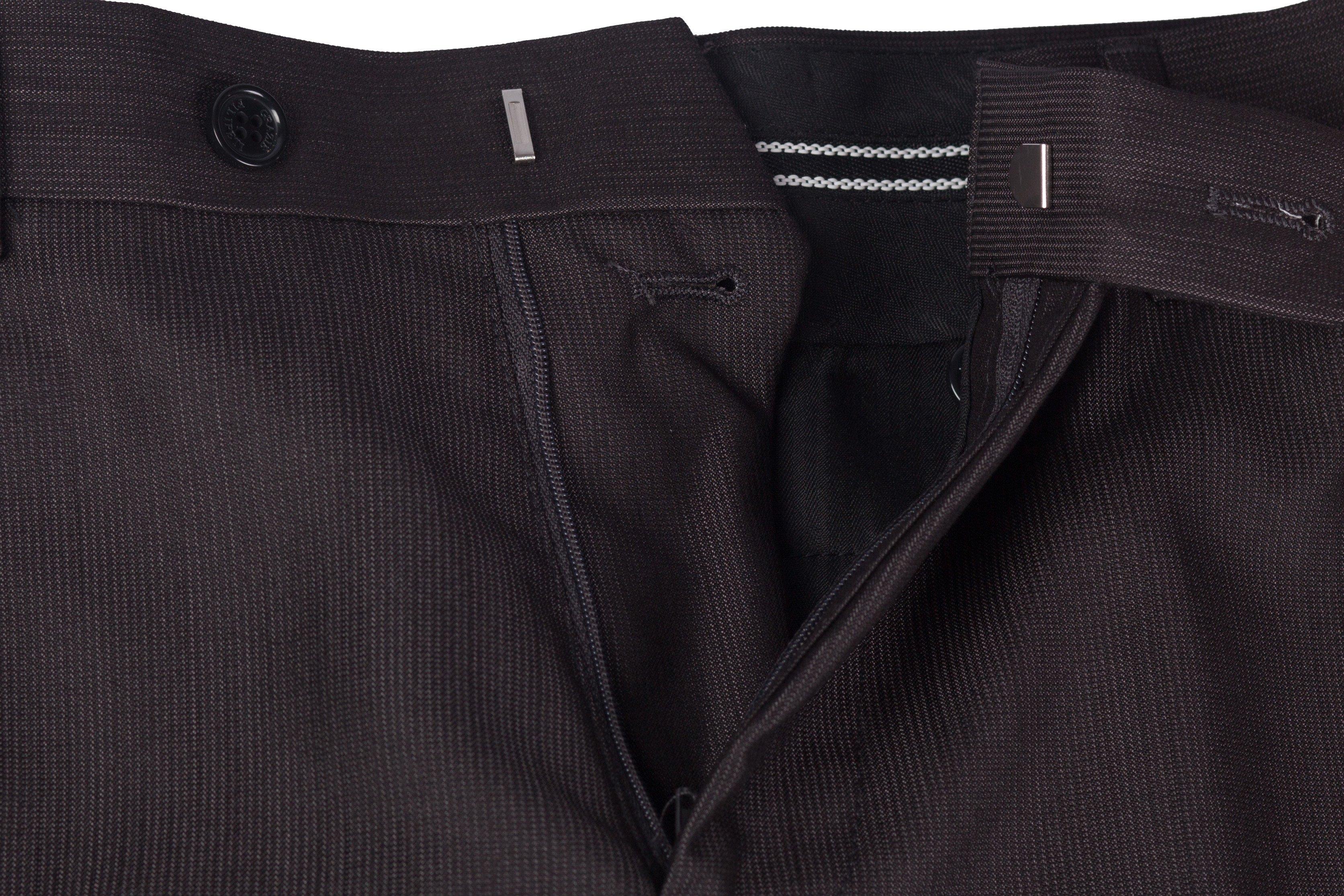 Pantaloni gri havana cu dungi fine Grazie Filipeti