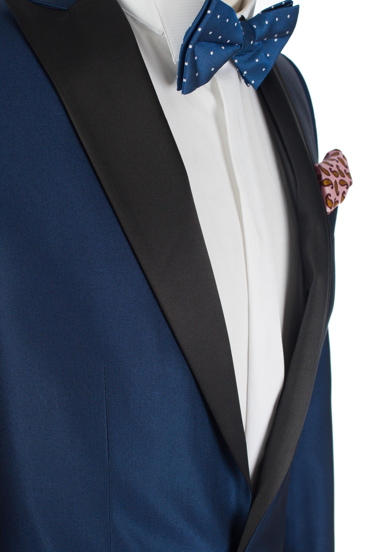 Costum de ceremonie Royal Blue cu guler ascutit Grazie Filipeti