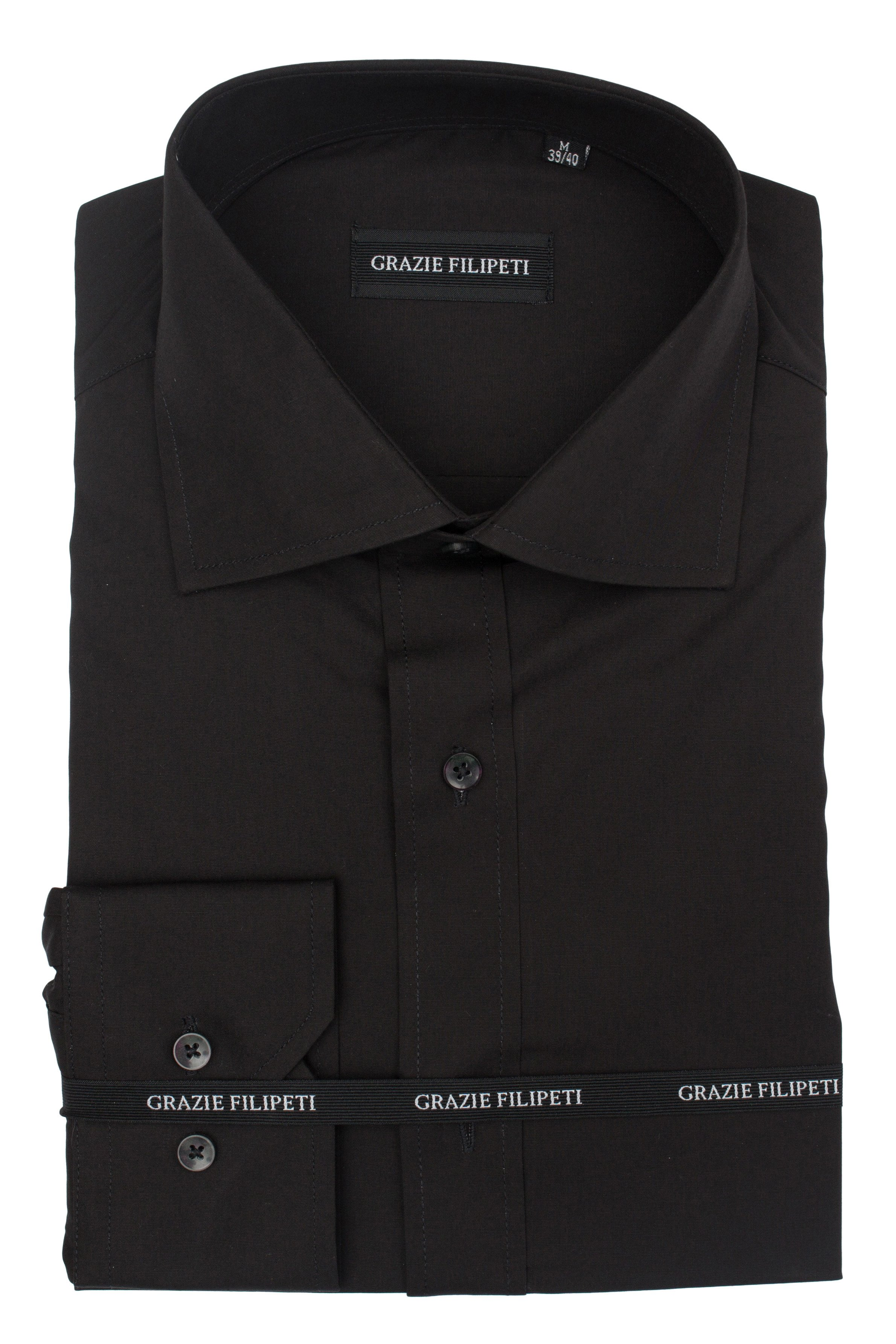Camasa Regular Fit negru uni Grazie Filipeti