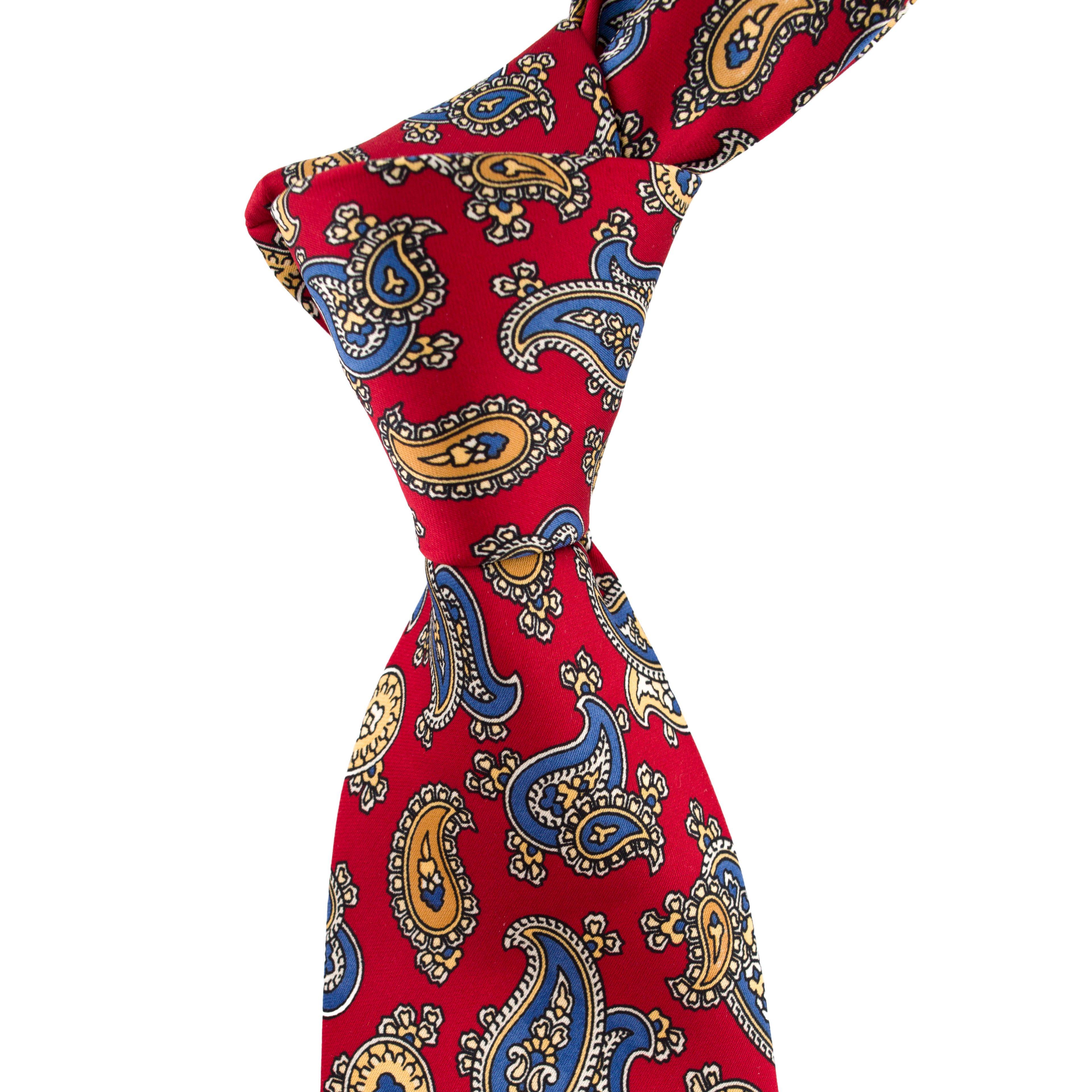 Cravata bordeaux Paisley