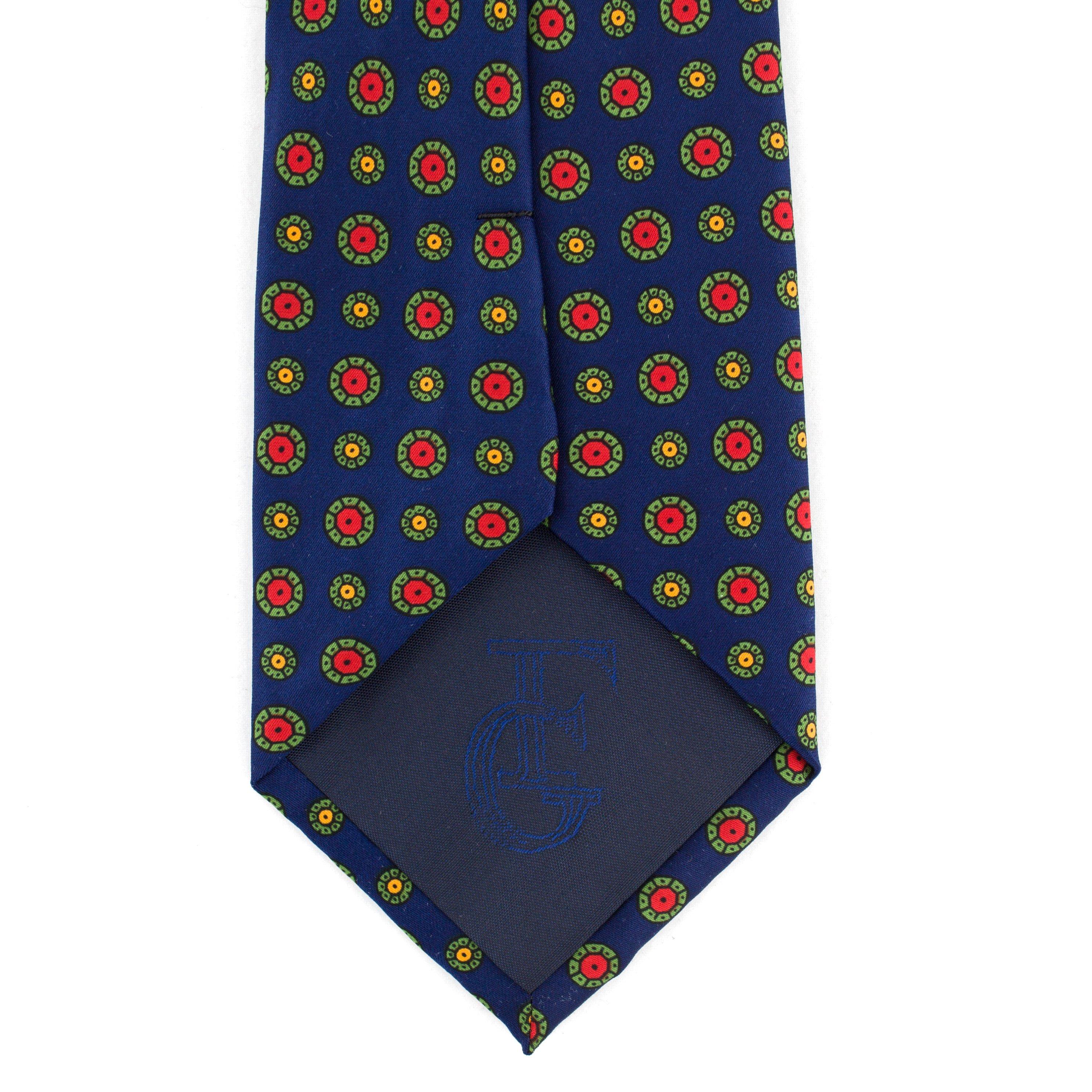 Cravata albastra cu buline