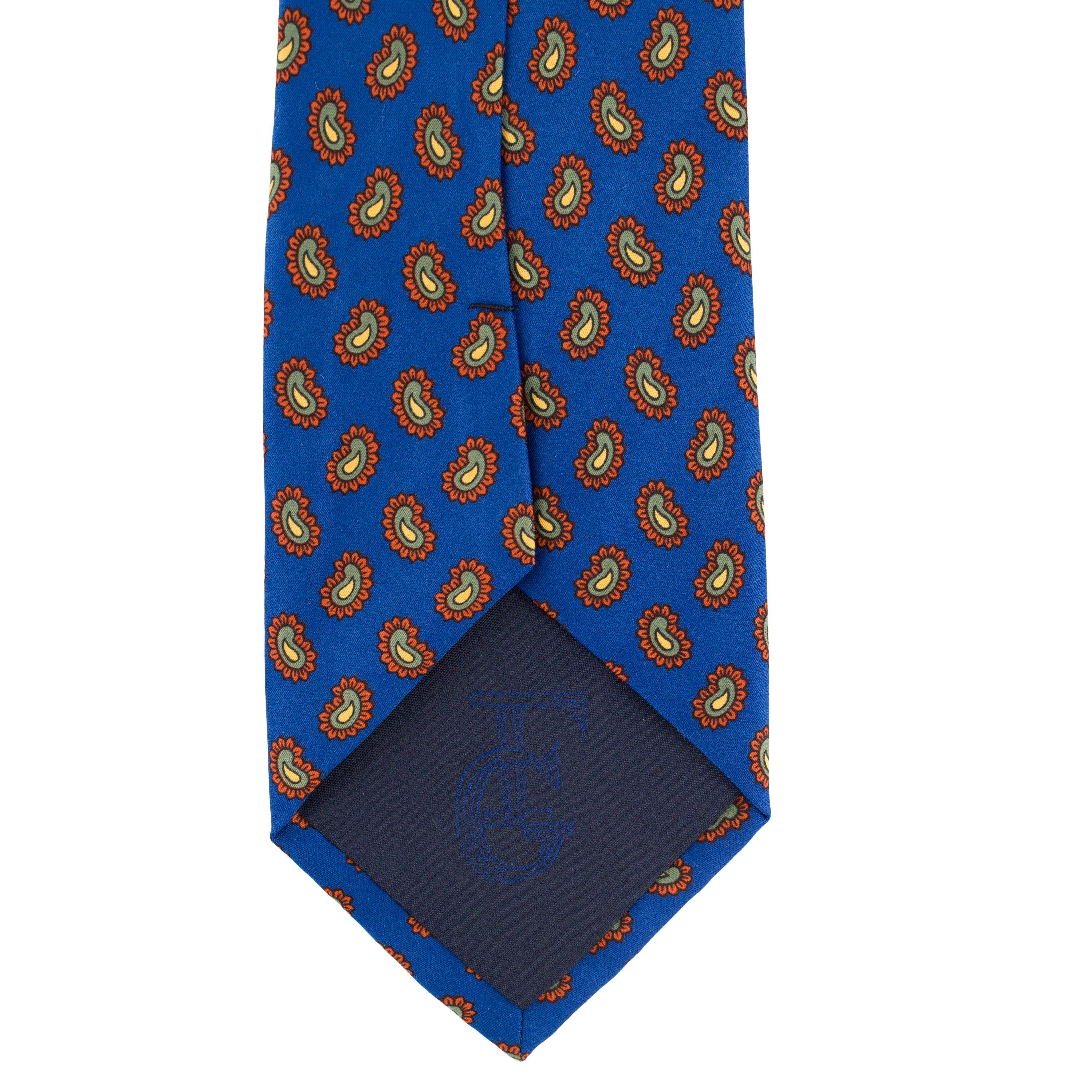 Cravata albastra Paisley Print