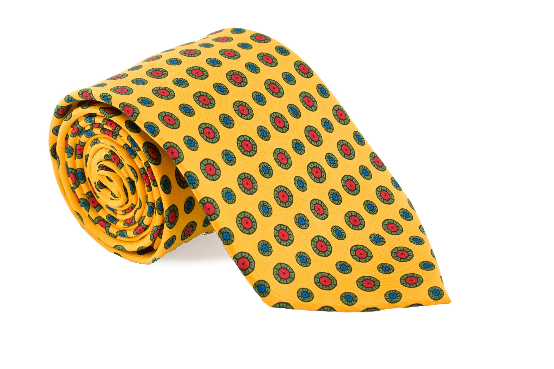 Cravata galbena cu buline