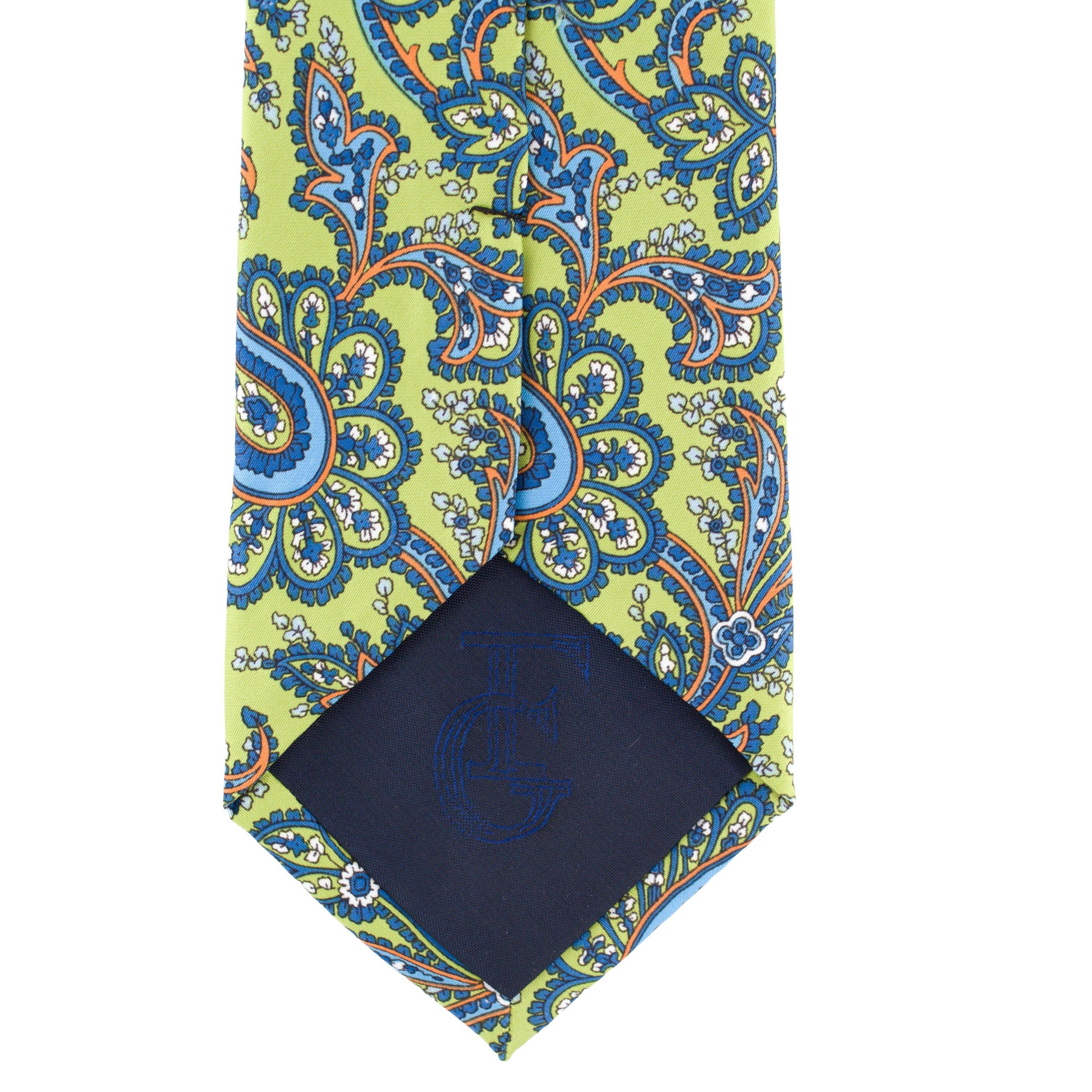 Cravata verde Paisley