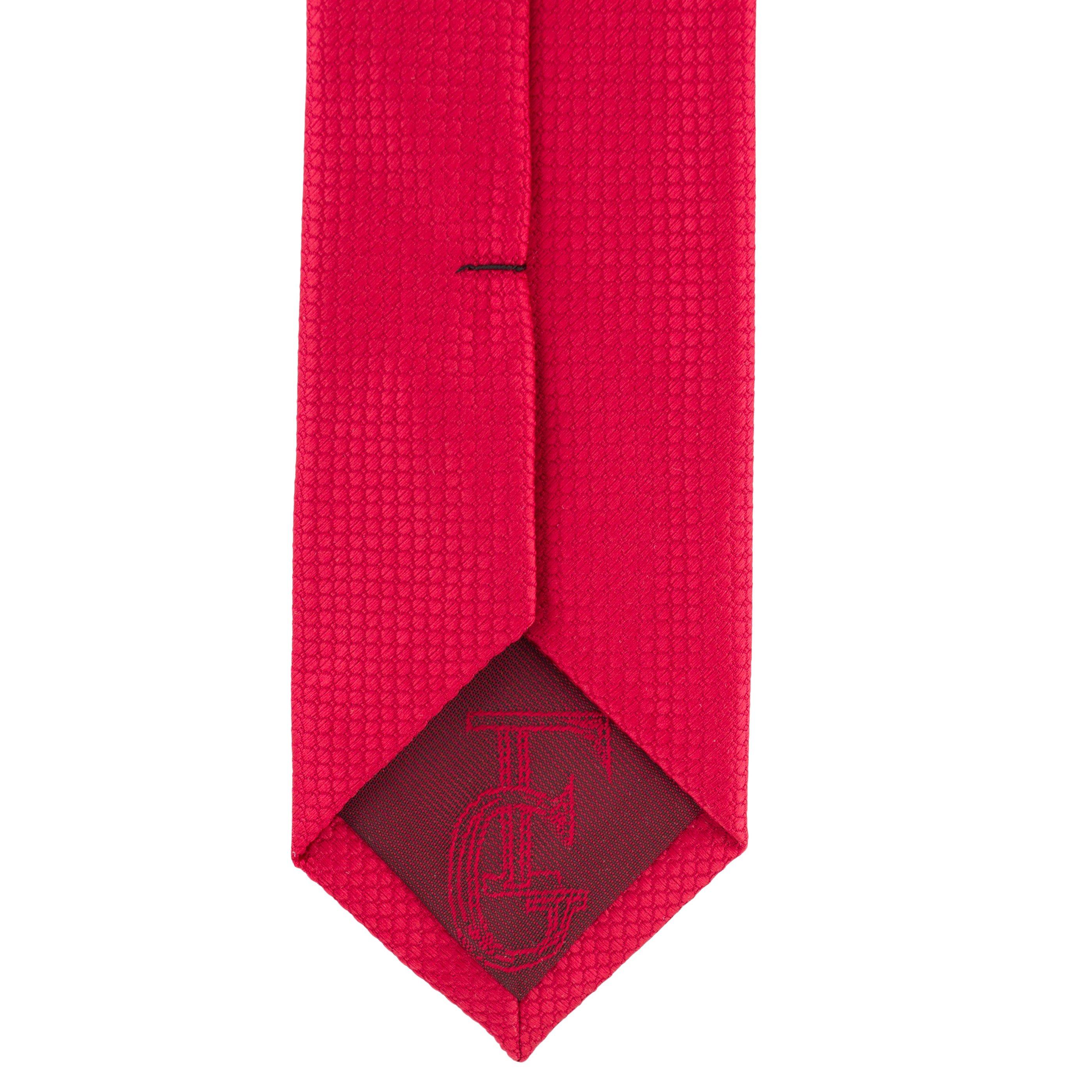 Cravata Slim rosie cu model