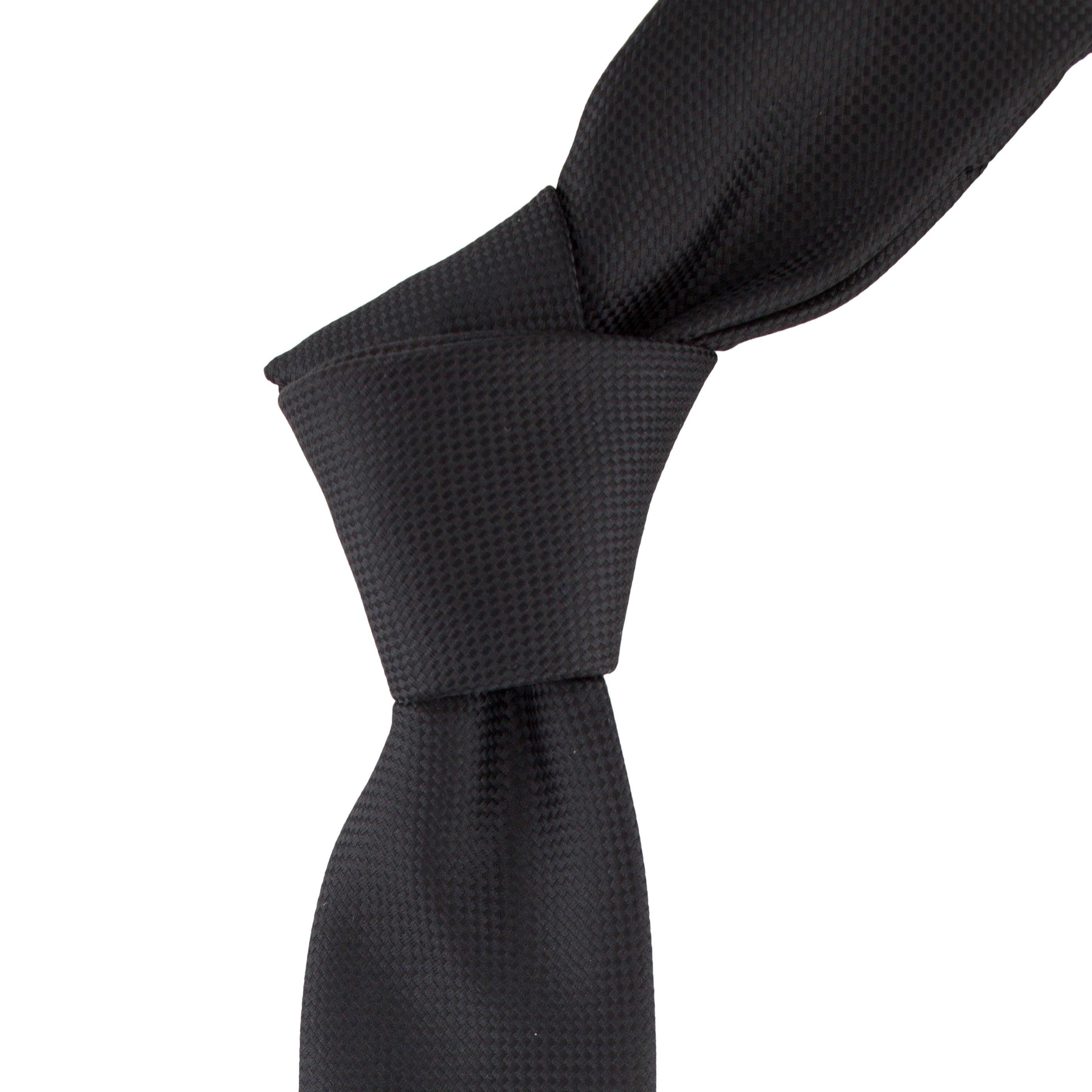 Cravata Slim neagra cu striatii
