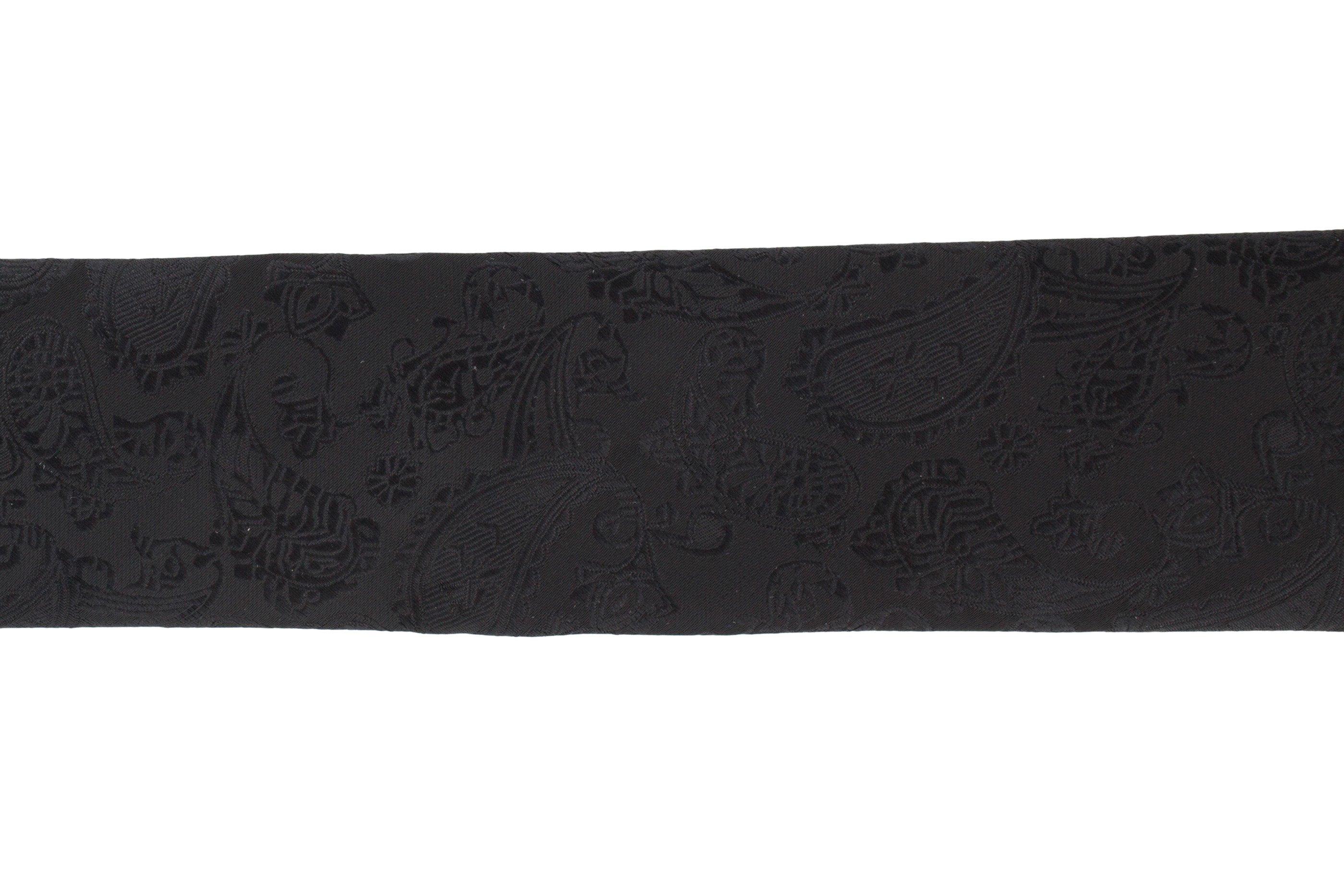 Cravata Slim neagra Paisley