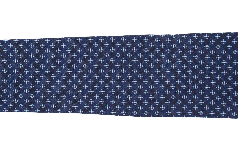 Cravata albastra cu model bleu
