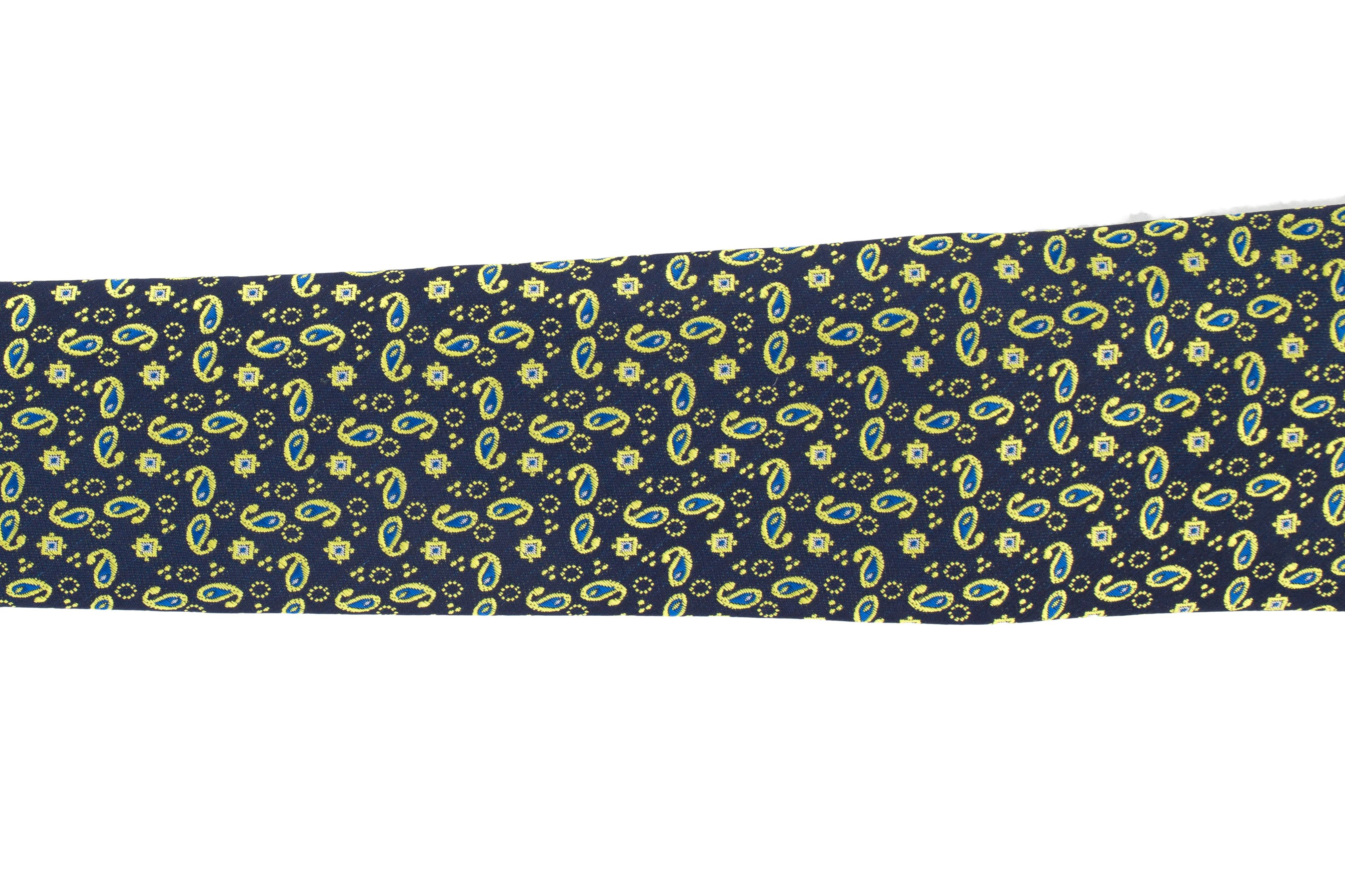 Cravata bleumarin Paisley