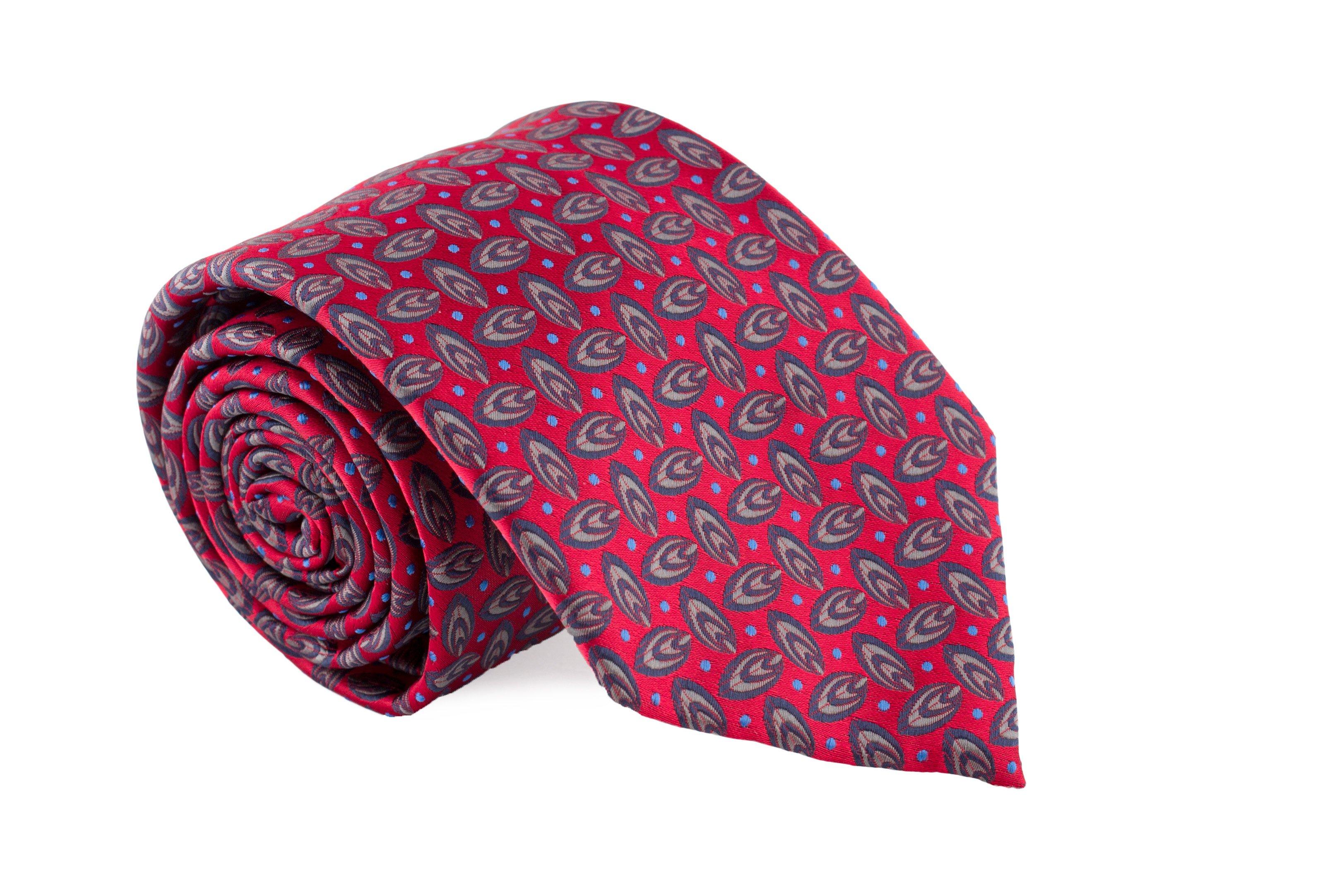 Cravata rosie cu model