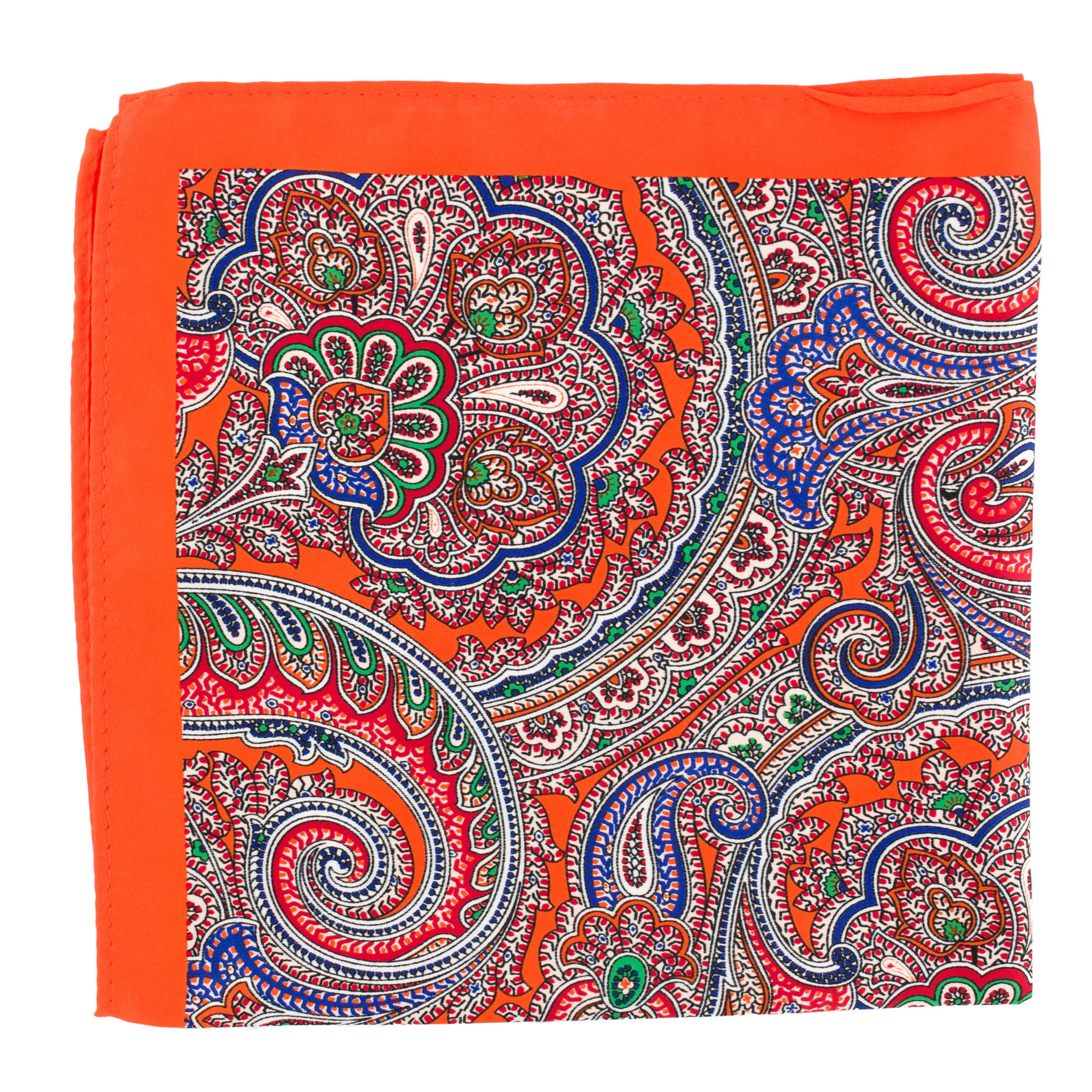 Batista de buzunar Orange Paisley