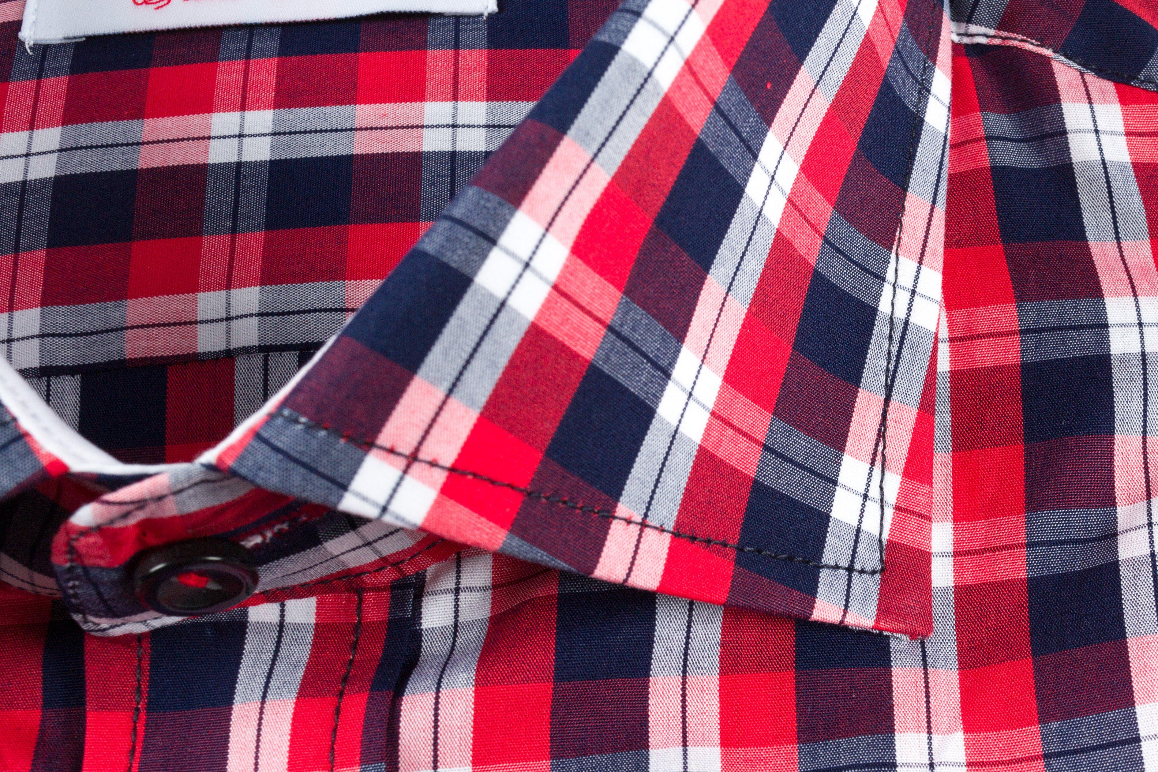 Camasa Slim Fit Red Squares
