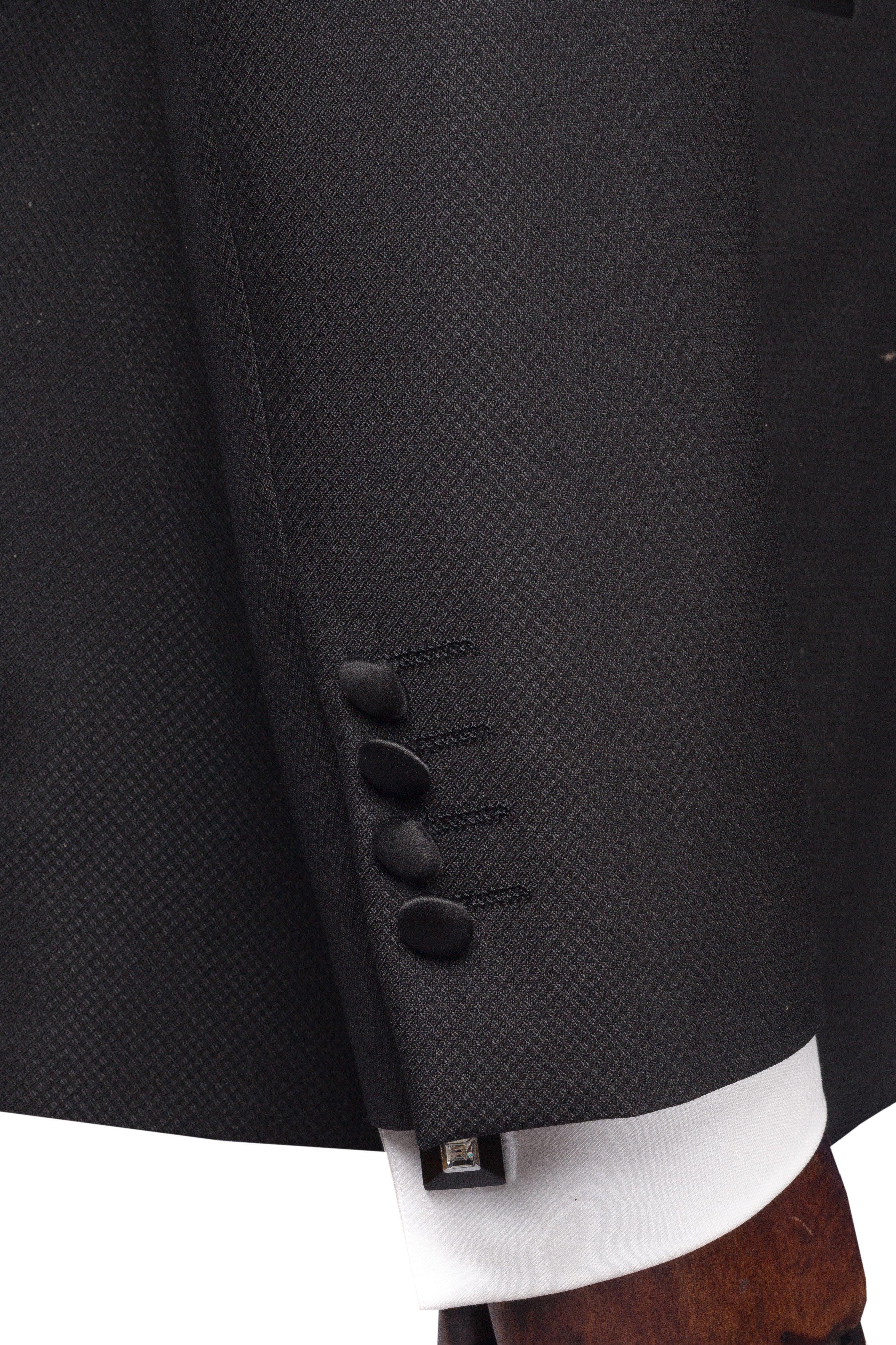 Costum de ceremonie negru cu patratele Grazie Filipeti