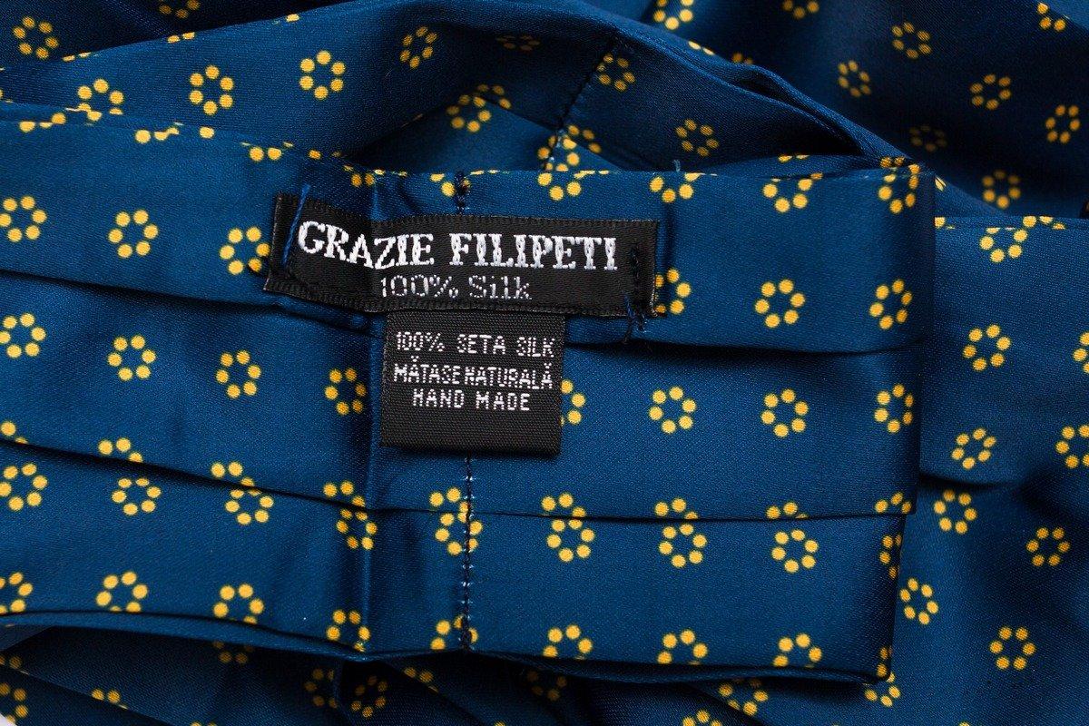 Esarfa ascot albastra Grazie Filipeti
