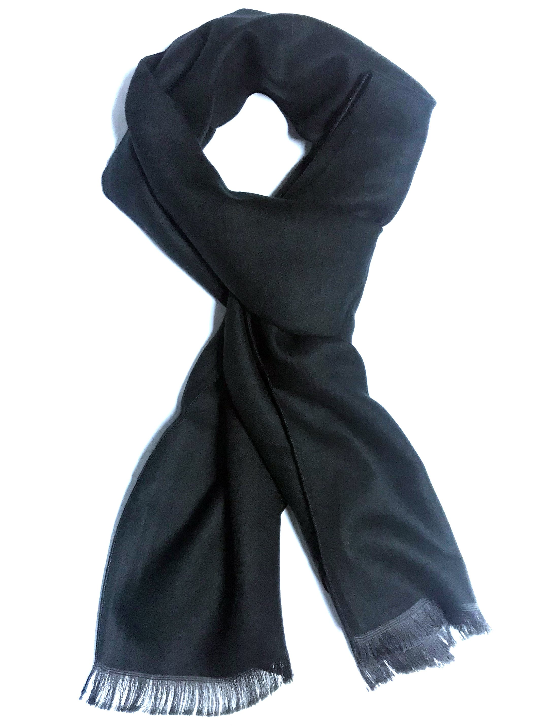 Fular casmir negru uni