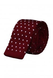 Cravata crosetata bordeaux marca Grazie Filipeti